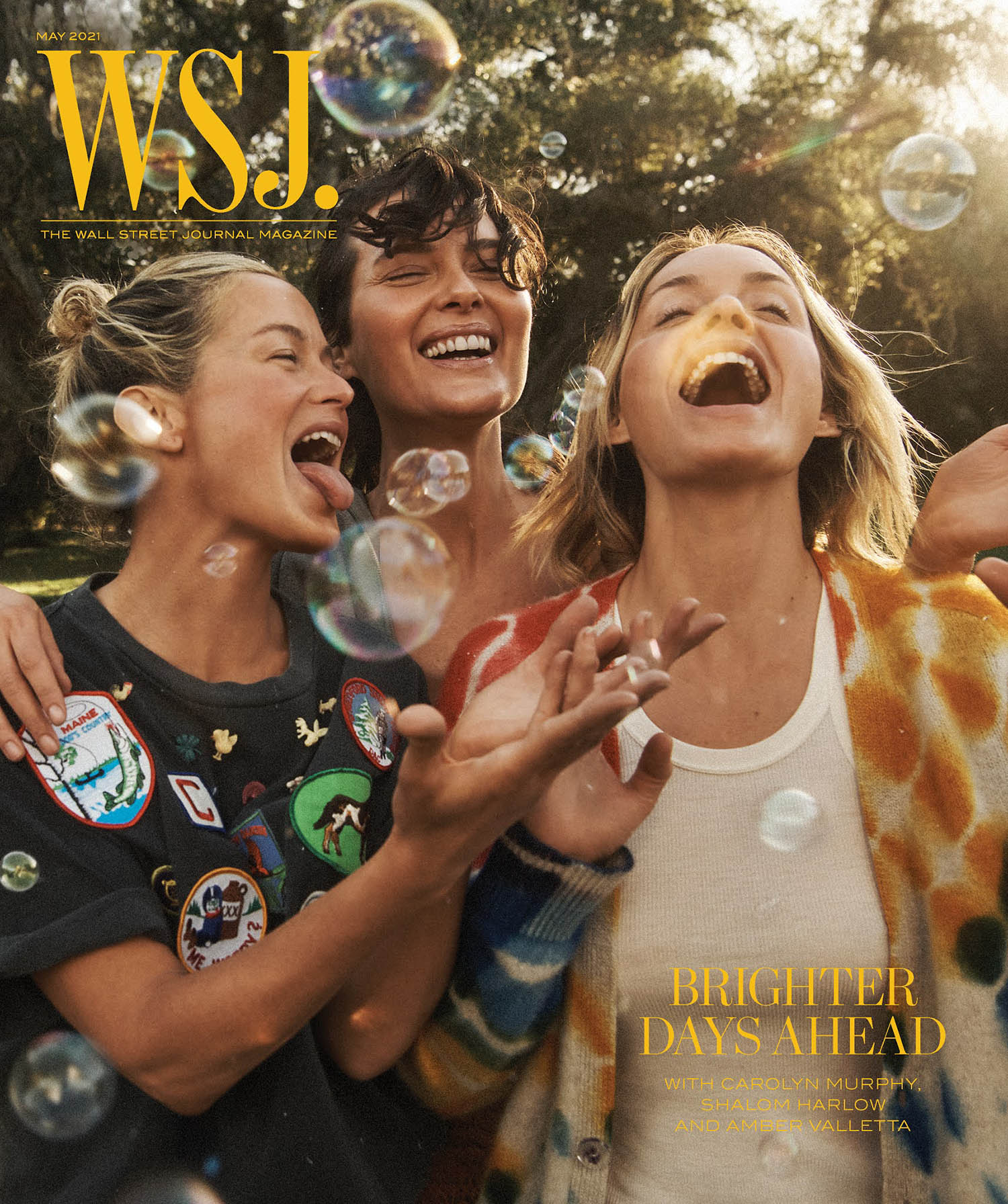 Amber Valletta, Shalom Harlow and Carolyn Murphy cover WSJ. Magazine May 2021 by Lachlan Bailey