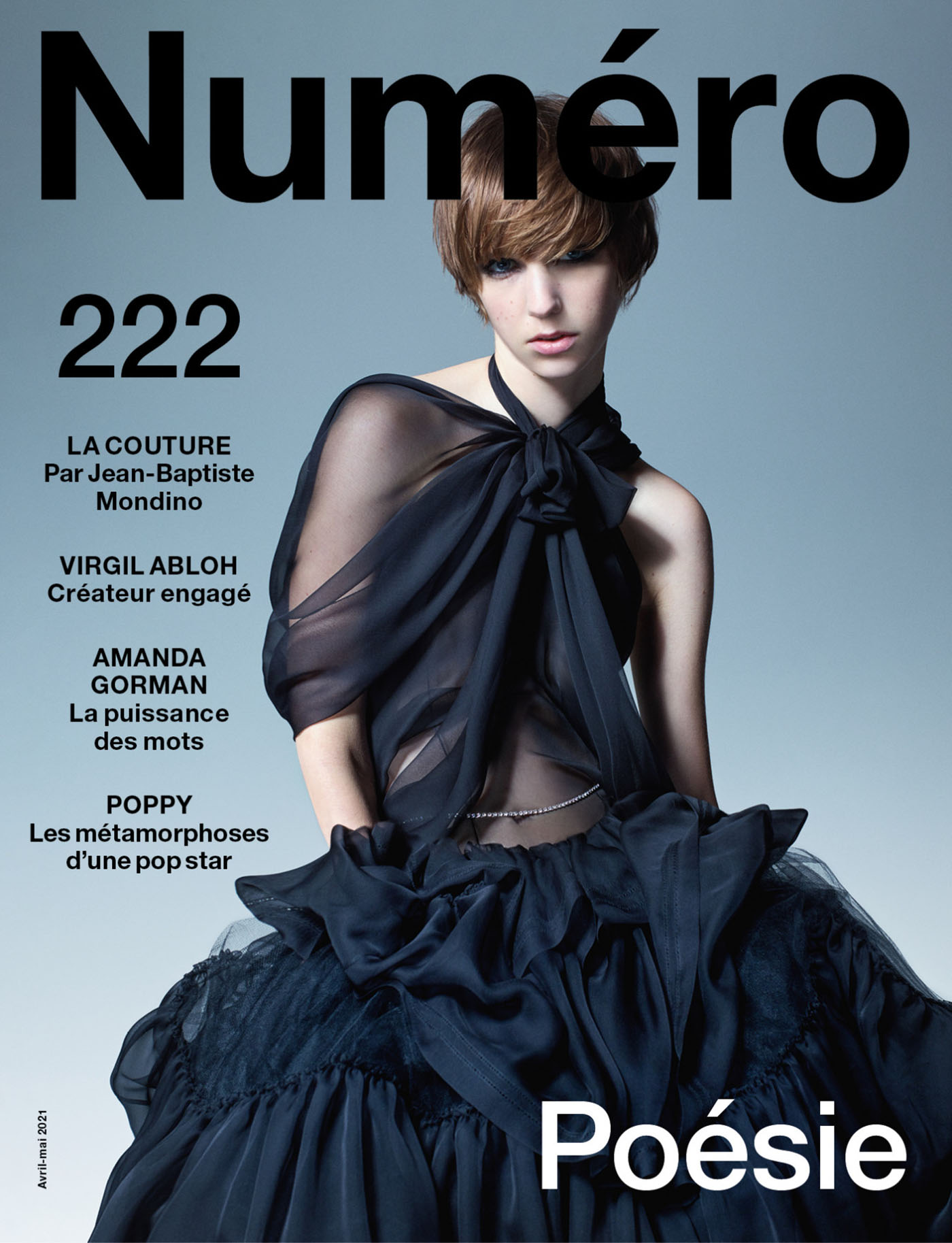 Bente Oort and Ajok Madel covers Numéro April May 2021 by Jean-Baptiste Mondino