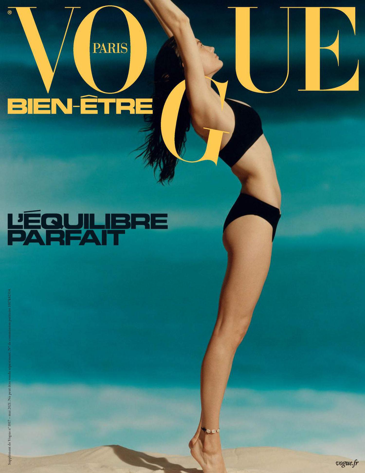 Caroline Knudsen covers Vogue Wellness Paris May 2021 by Charles Negre
