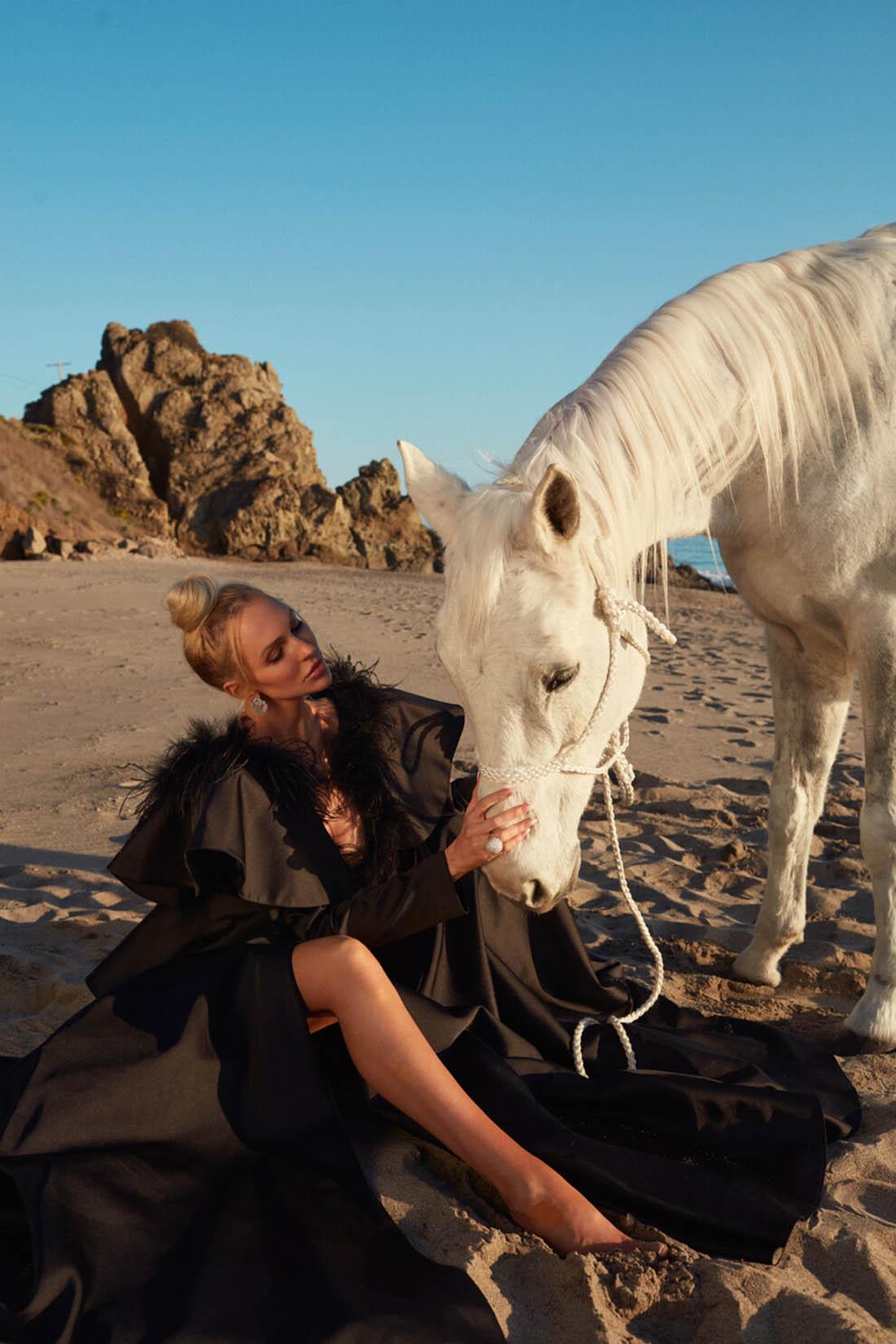 Christine Quinn covers Vogue Beauty Ukraine April 2021 by Edward Aninaru