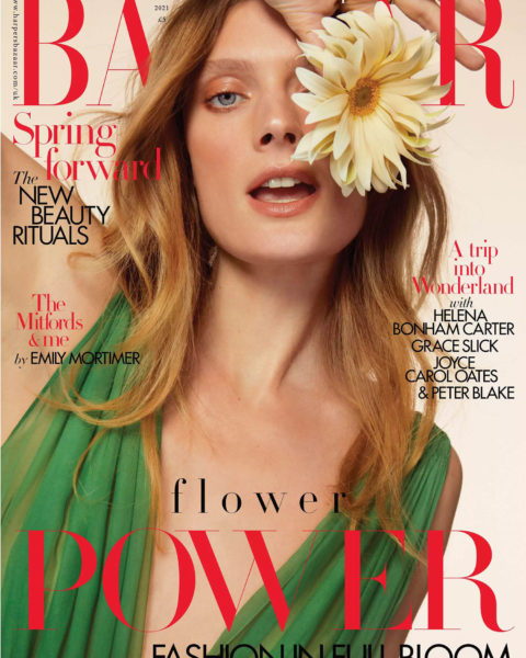 Constance Jablonski covers Harper's Bazaar UK May 2021 by Betina du Toit