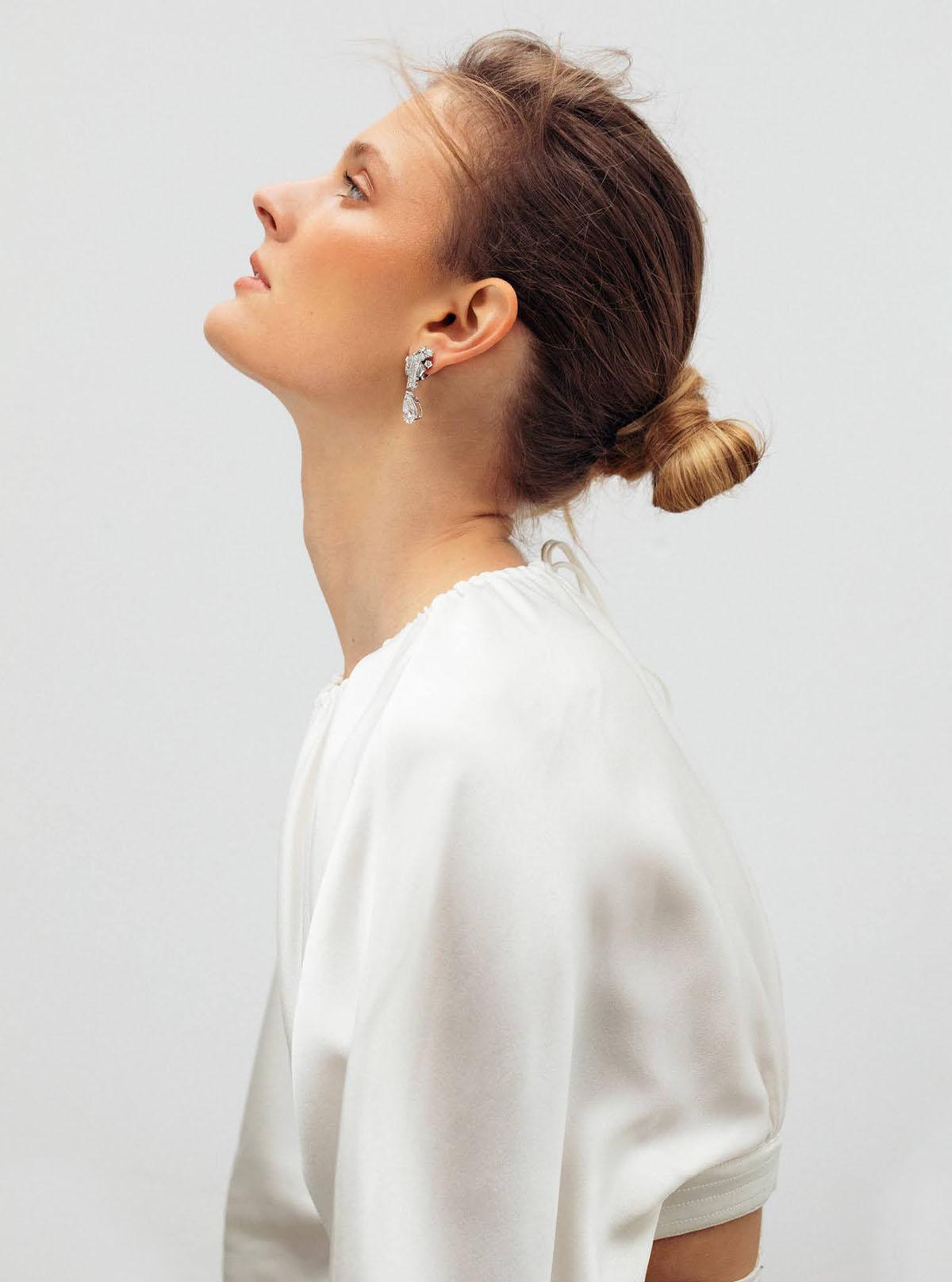Constance Jablonski covers Harper's Bazaar UK May 2021 by Betina du Toit