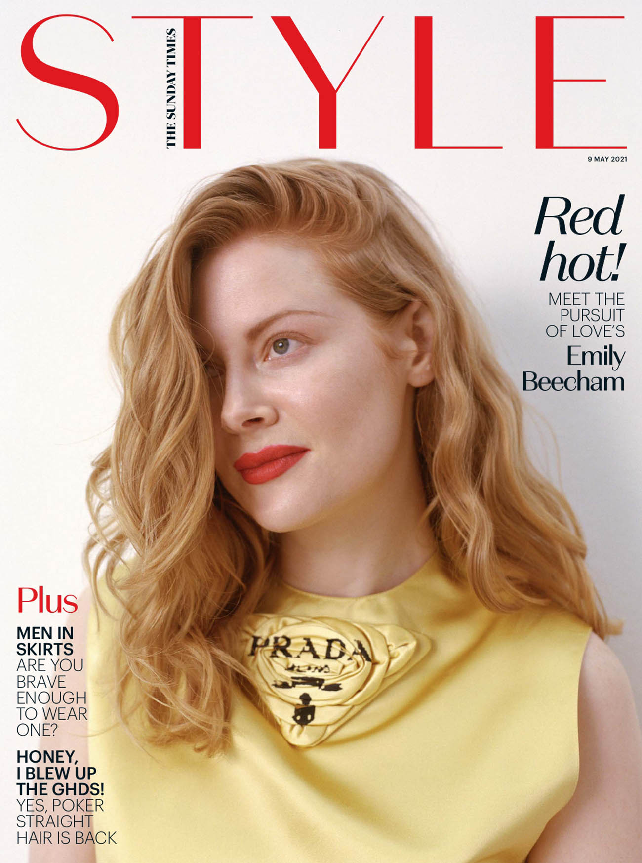 Emily Beecham covers The Sunday Times Style May 9th, 2021 by Clare Shilland