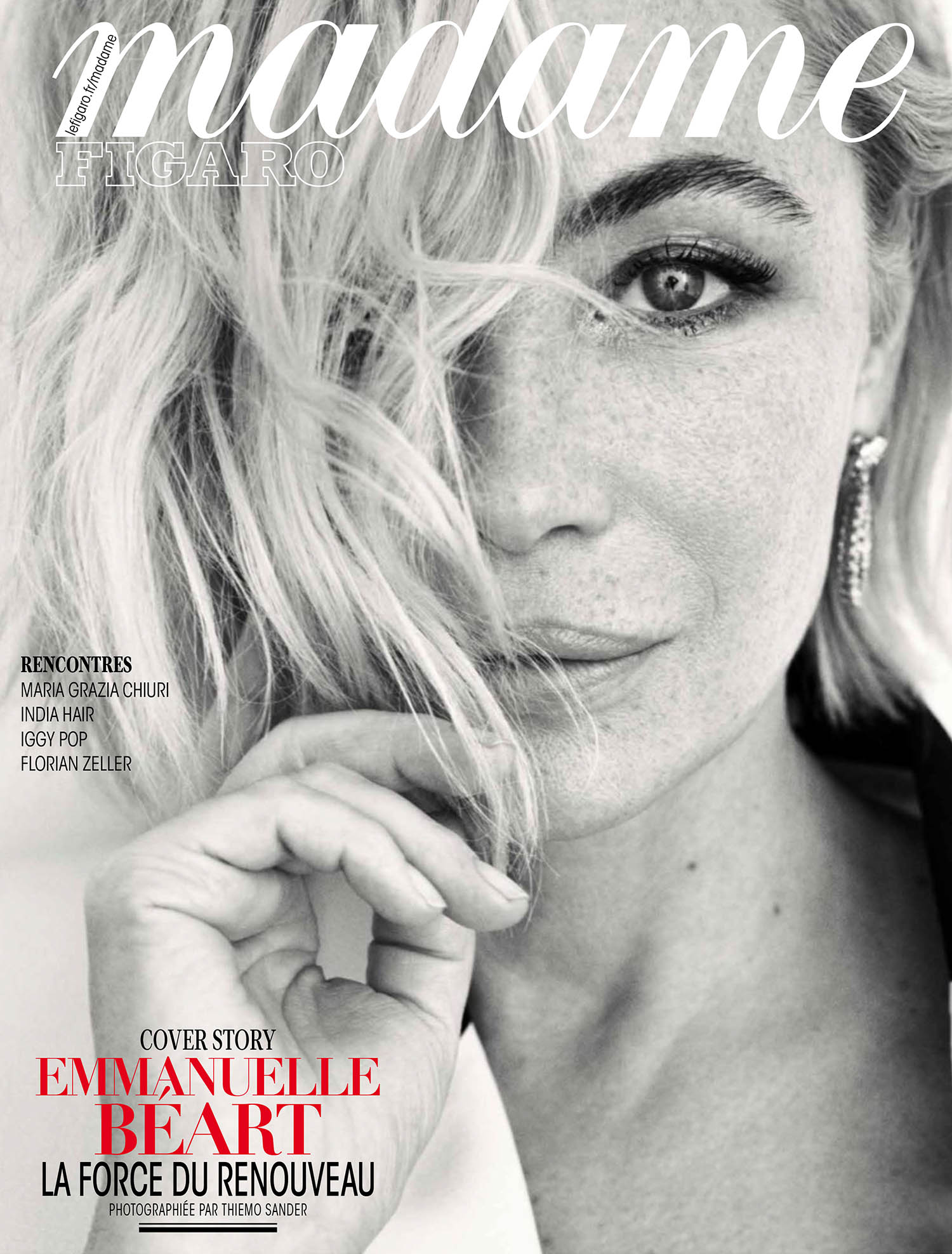 Emmanuelle Béart covers Madame Figaro May 21st, 2021 by Thiemo Sander