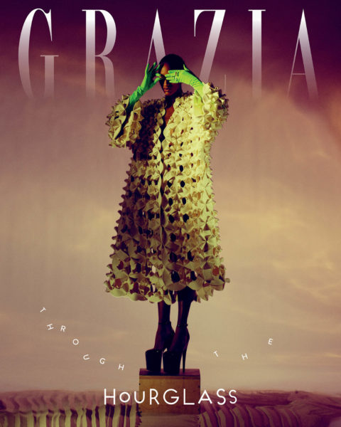 Emmanuelle Lacou covers Grazia International Issue 9 2021 by Paul Morel