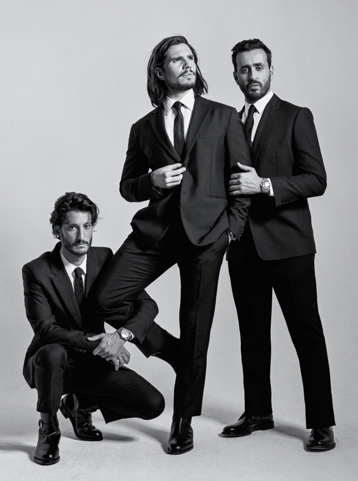 François Civil, Pierre Niney and Jonathan Cohen cover GQ France May 2021 by Marie Deteneuille