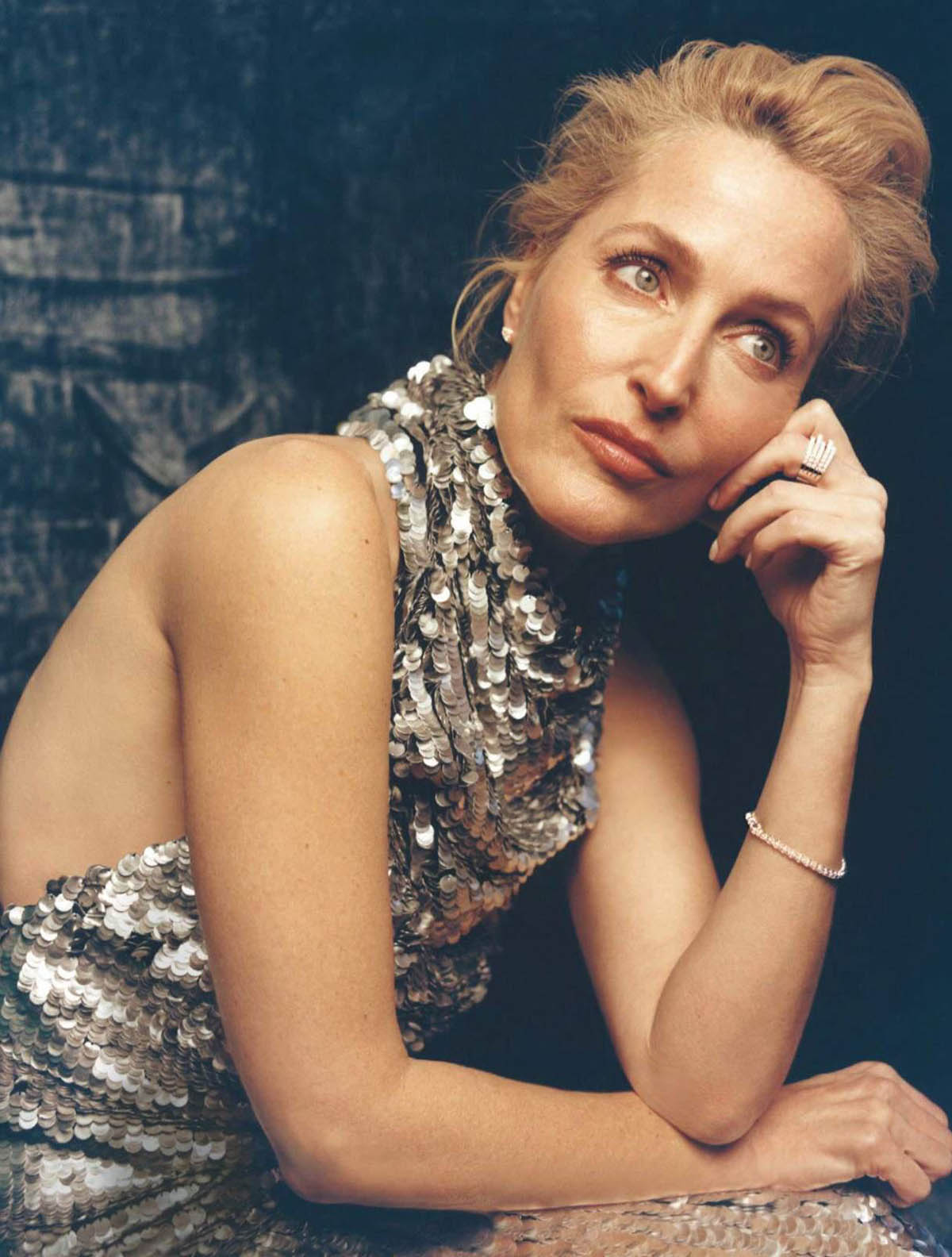Gillian Anderson by Charlotte Hadden for InStyle Spain May 2021