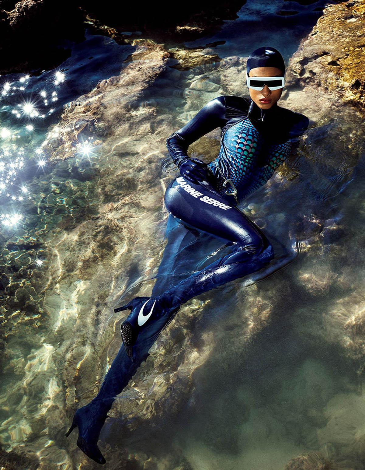 Imaan Hammam covers Vogue Japan May 2021 by Luigi & Iango