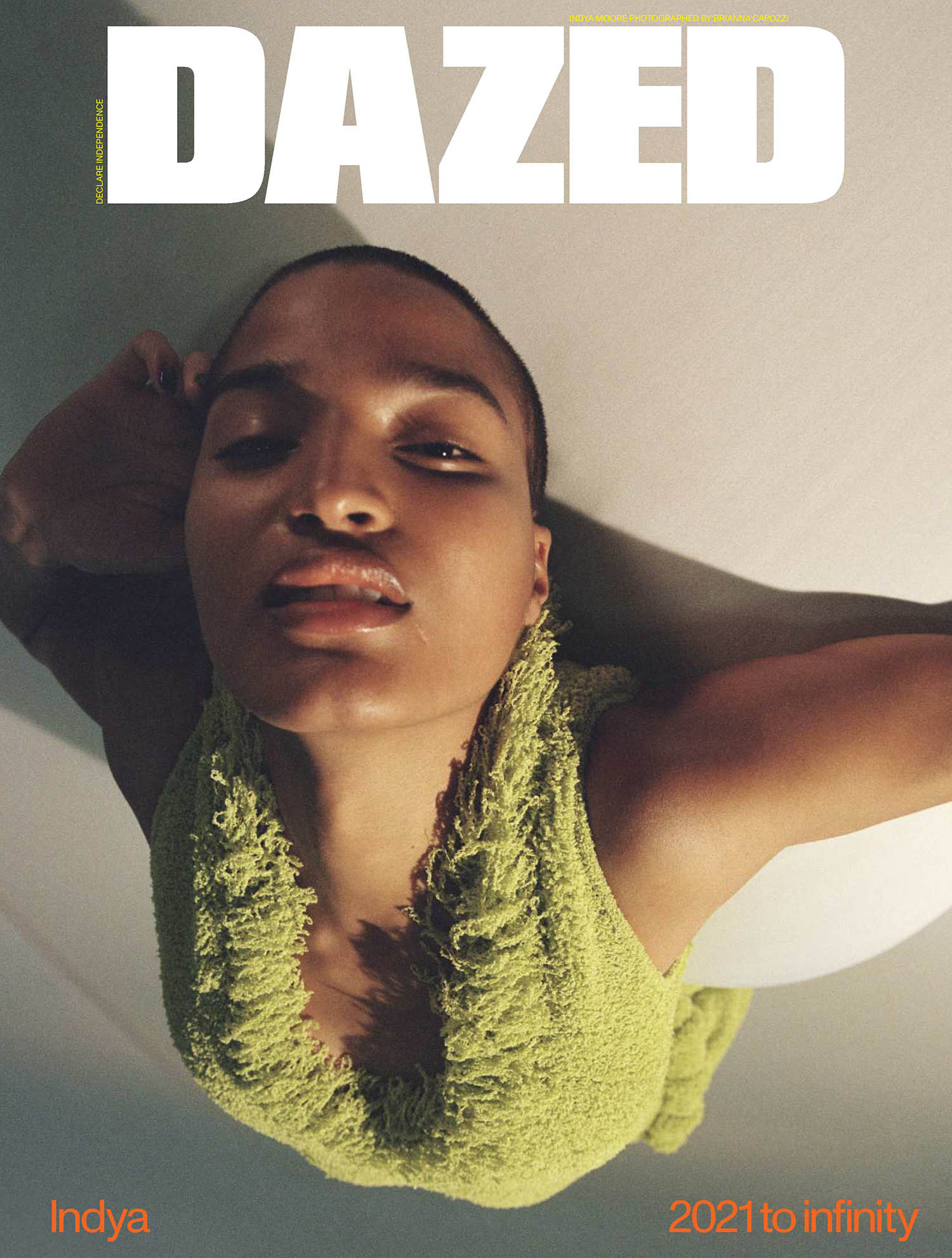 Indya Moore covers Dazed Magazine Spring 2021 by Brianna Capozzi