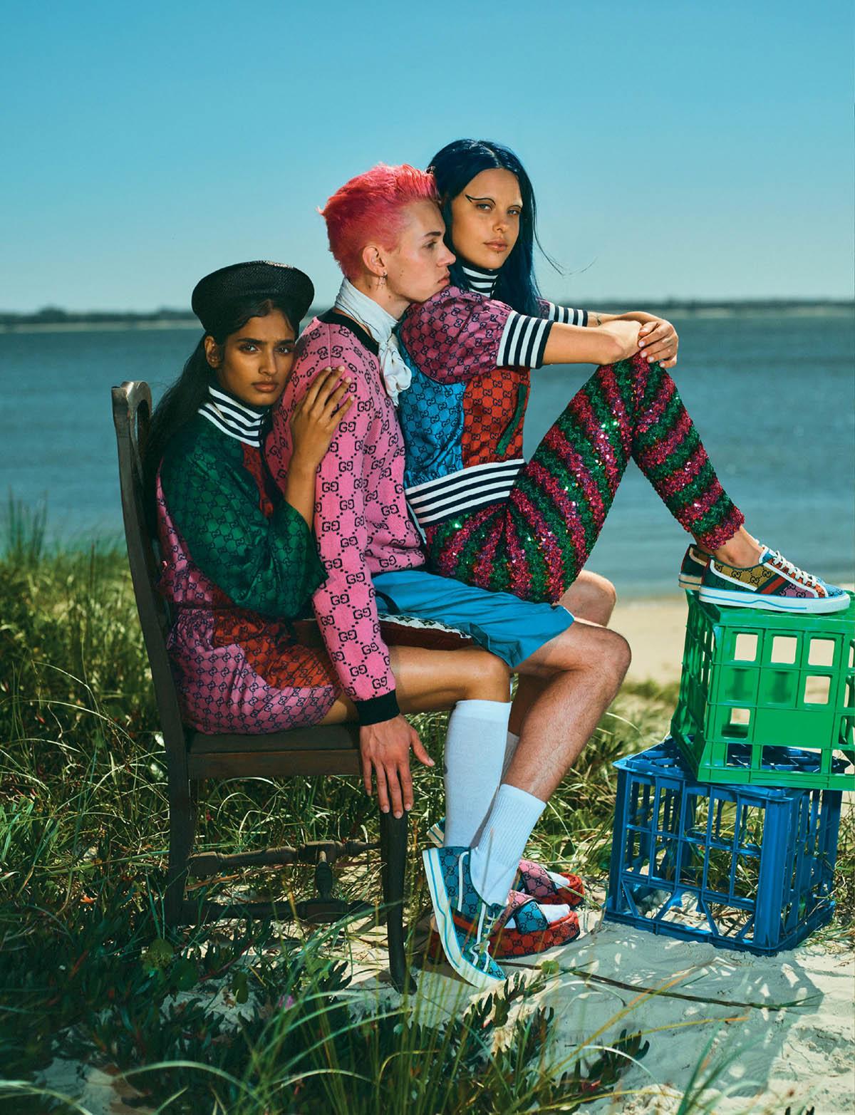 Jade Hsu, Anjali Torvi and Dan Brown cover Harper's Bazaar Singapore May 2021 by Georges Antoni