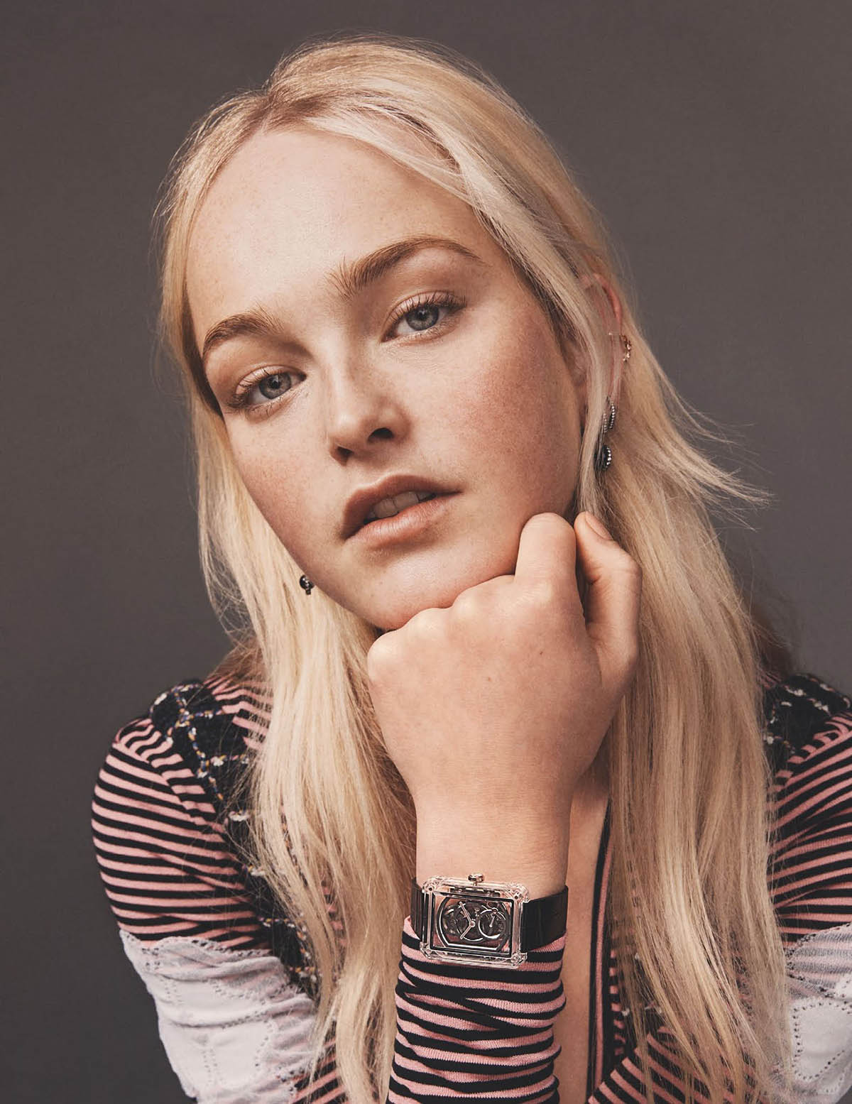 Jean Campbell covers British Vogue Watches May 2021 by Ben Weller