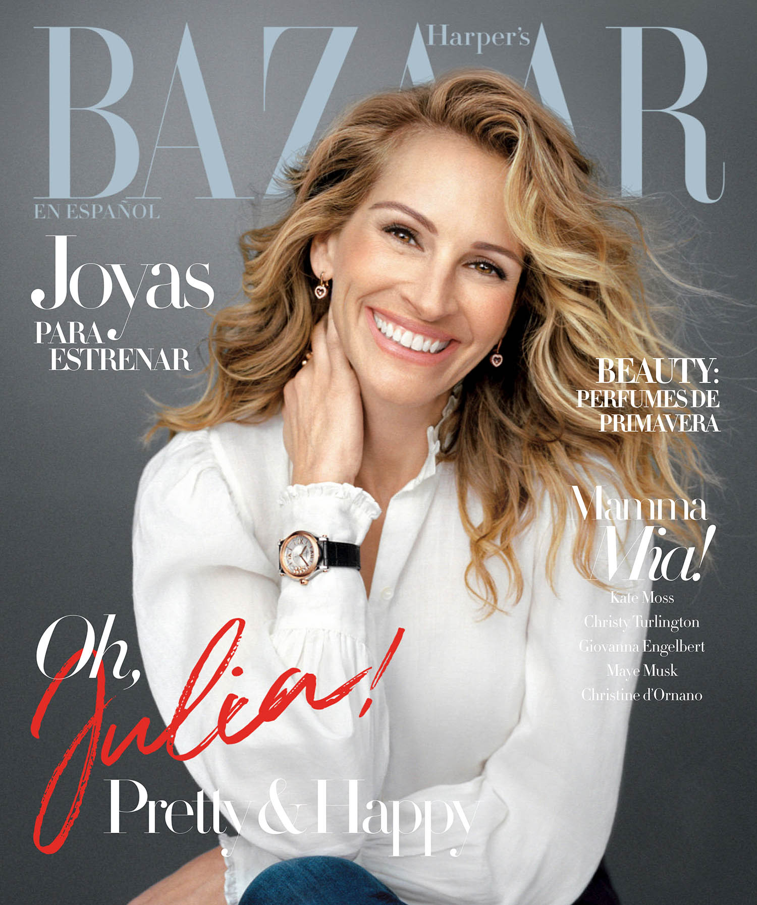 Julia Roberts covers Harper's Bazaar Mexico & Latin America May 2021 by Shayne Laverdiere