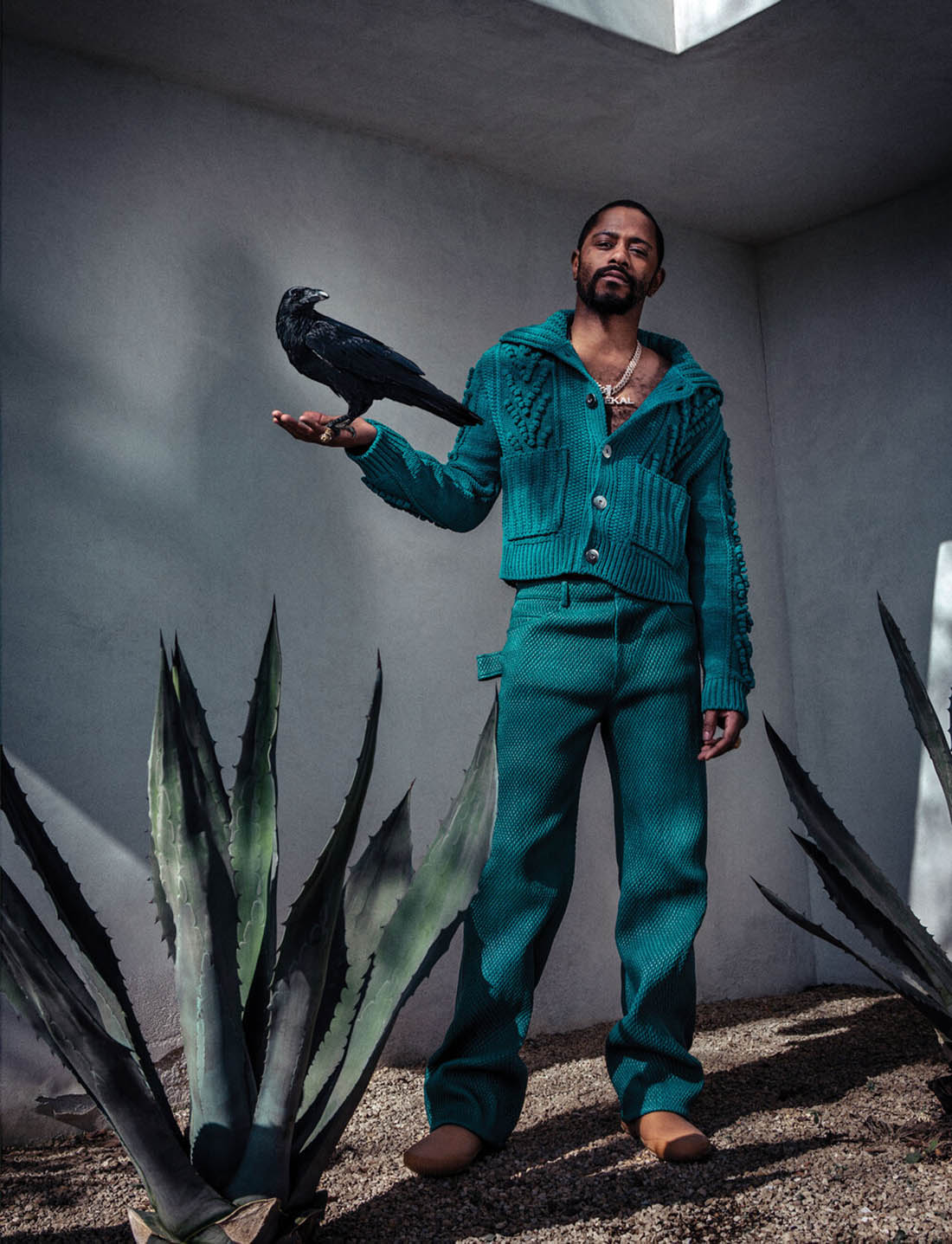 Lakeith Stanfield covers Flaunt Magazine Issue 174 by Andi Elloway