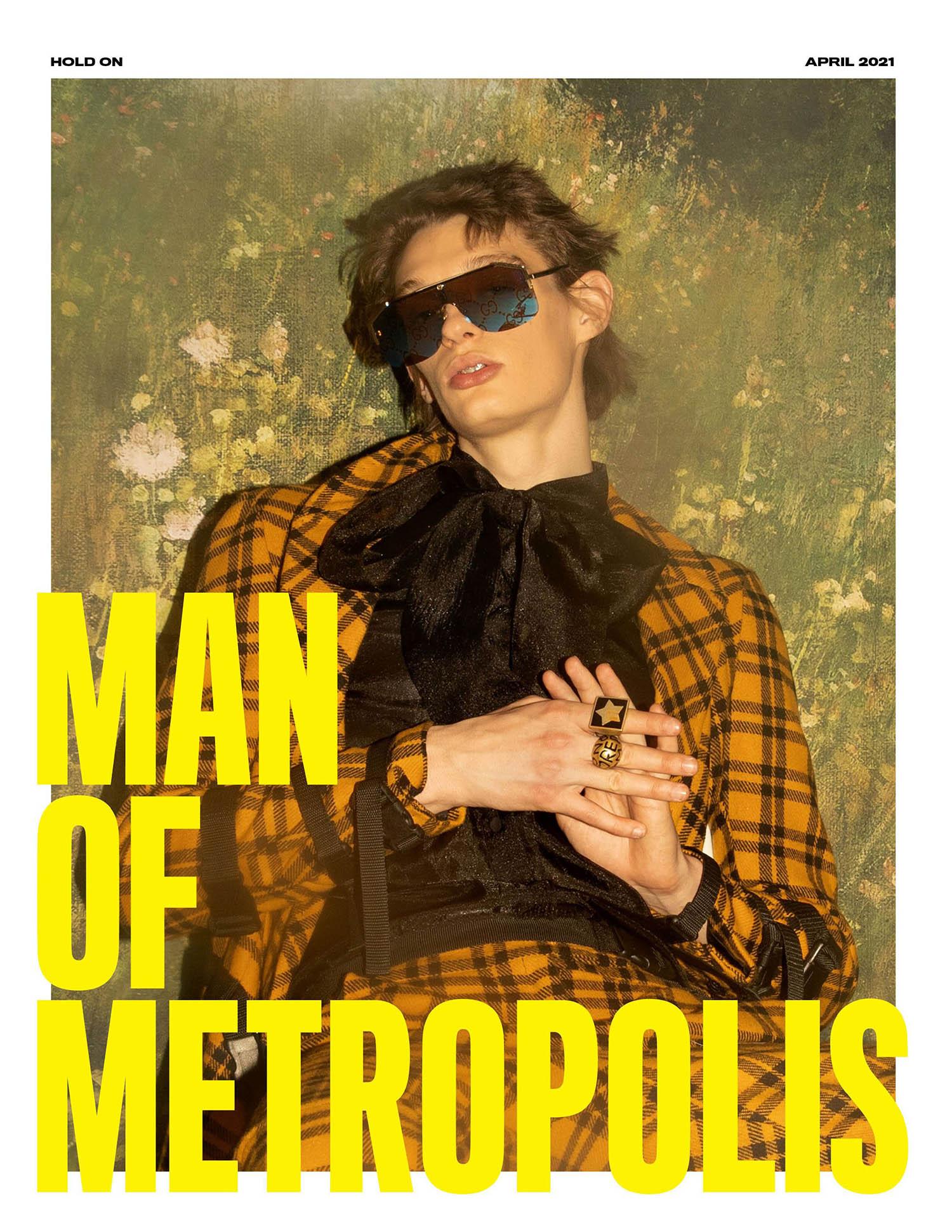 Leon Hubik covers Man of Metropolis April 2021 by Wanda Martin