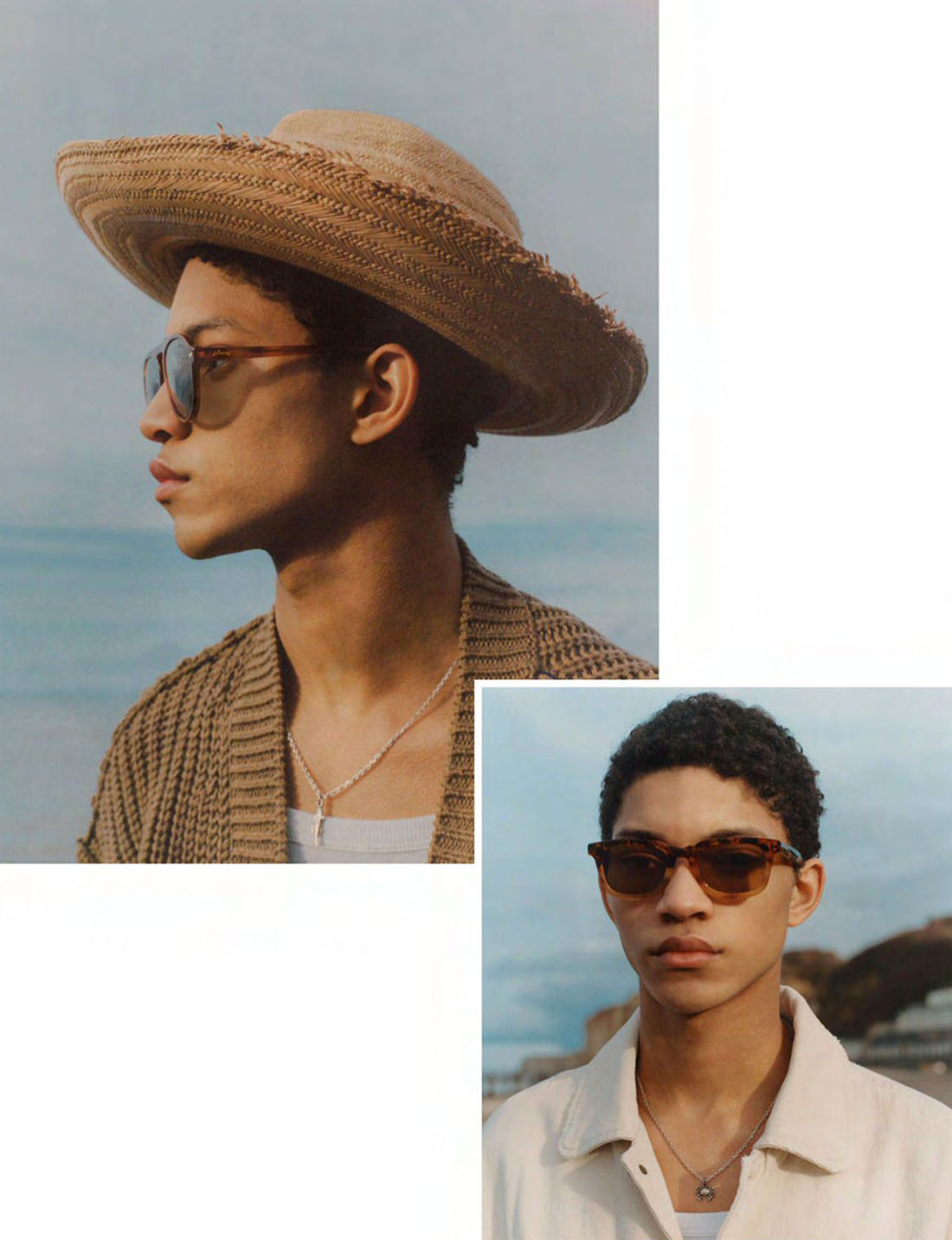Lucas El Bali and Jeranimo van Russel by Marco Imperatore for Vogue Hommes Spring/Summer 2021