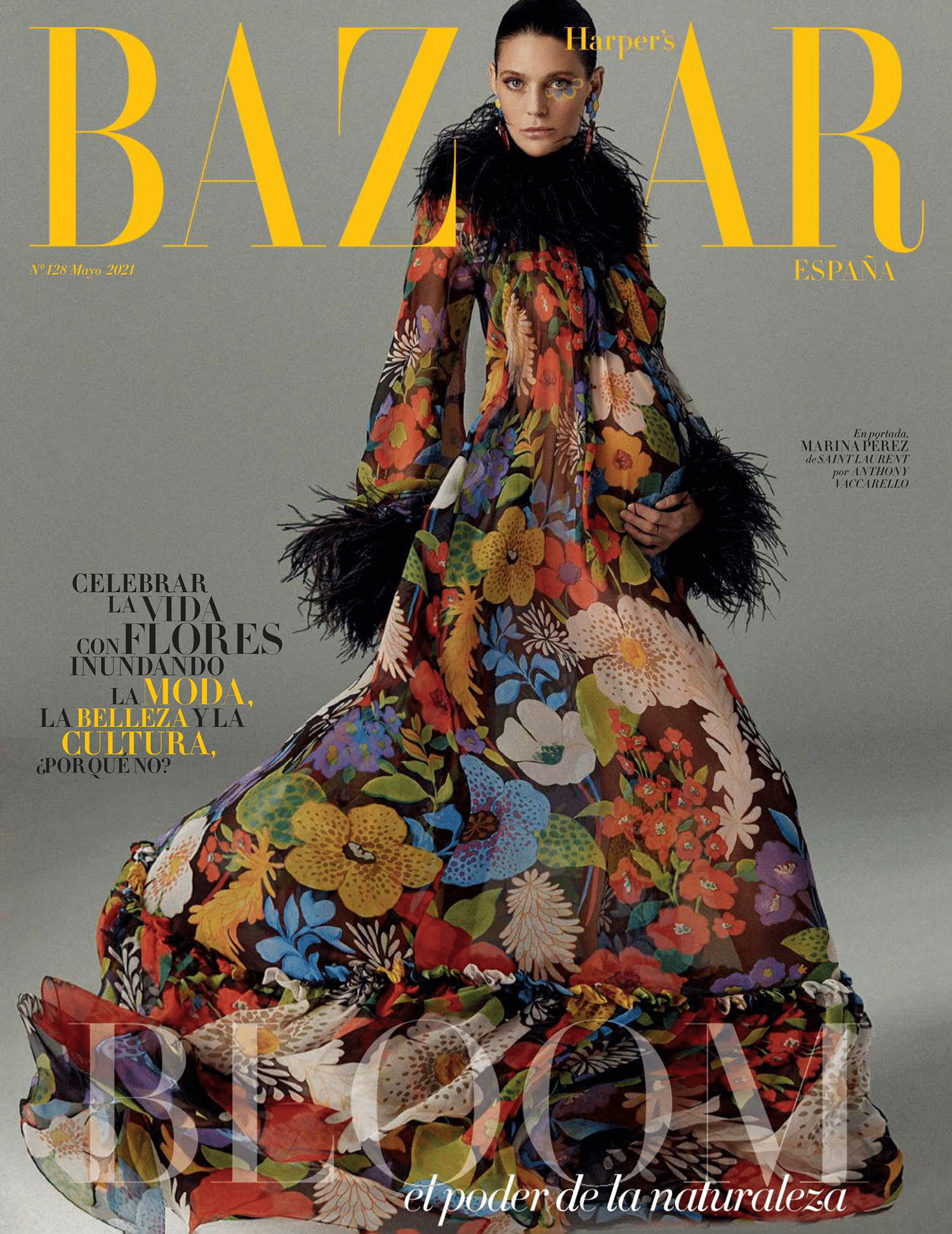 Marina Pérez covers Harper's Bazaar Spain May 2021 by Xavi Gordo