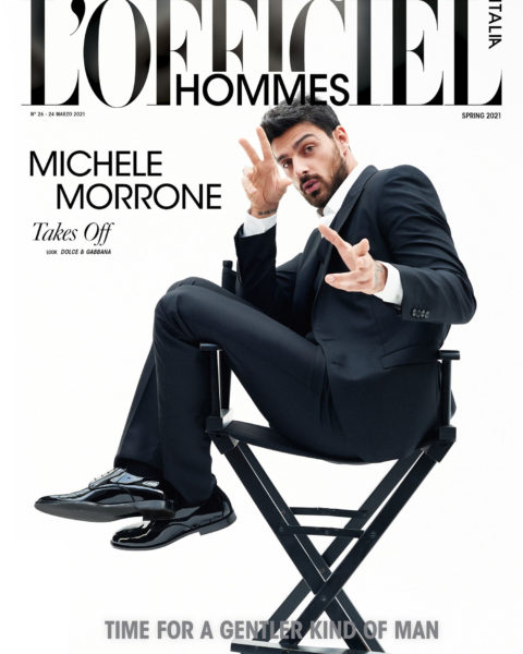 Michele Morrone covers L'Officiel Hommes Italia Issue 26 Digital Edition by Kosmas Pavlos