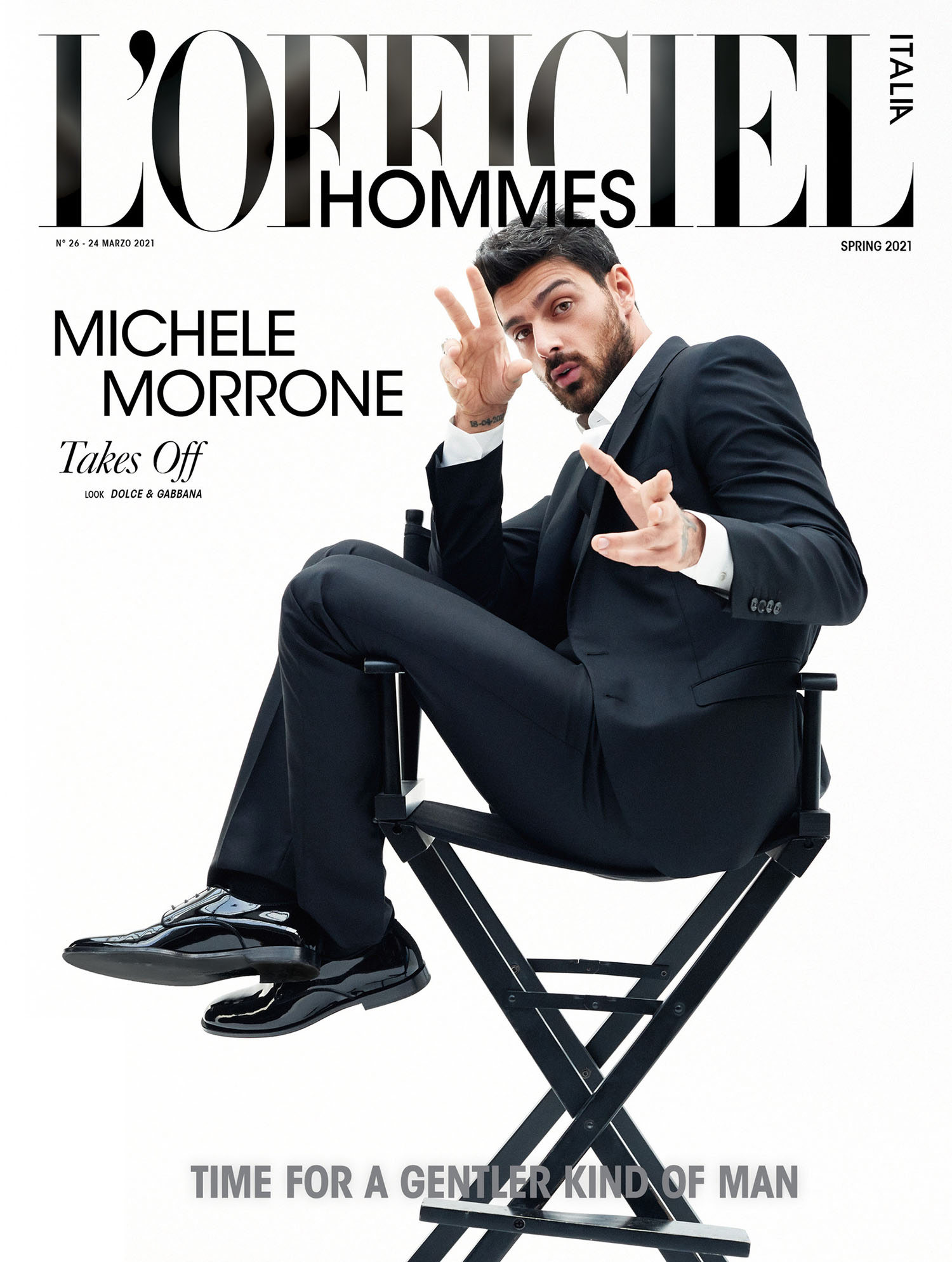 Michele Morrone covers L'Officiel Hommes Italia Issue 26 Digital Edition by Kosmas Pavlos
