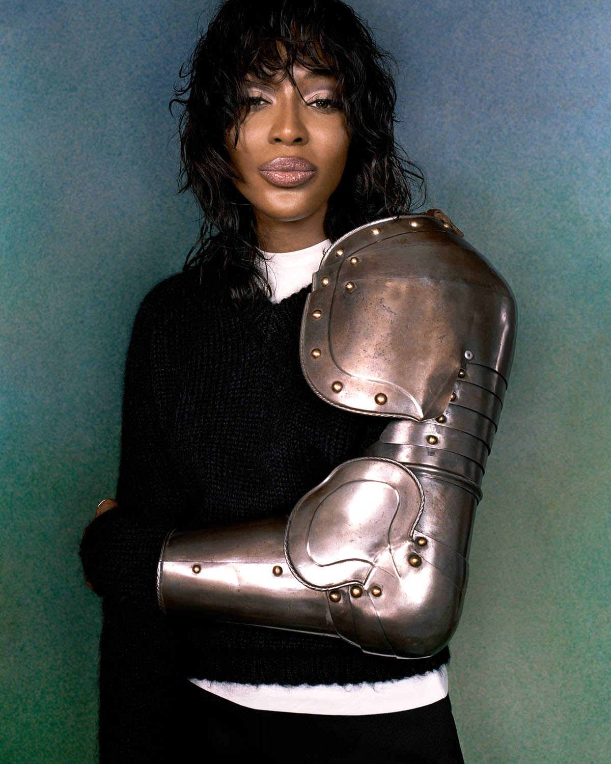 Naomi Campbell covers Interview Issue 536 by Hugo Comte