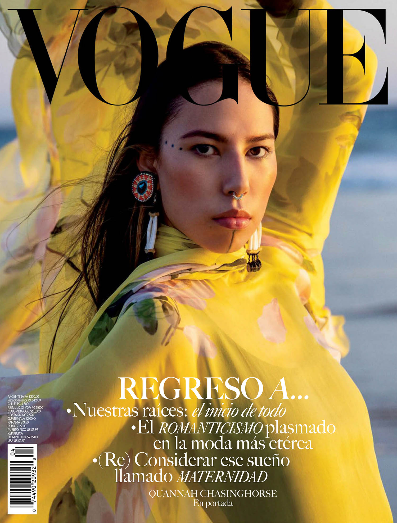 Quannah ChasingHorse covers Vogue Mexico & Latin America May 2021 by Inez and Vinoodh