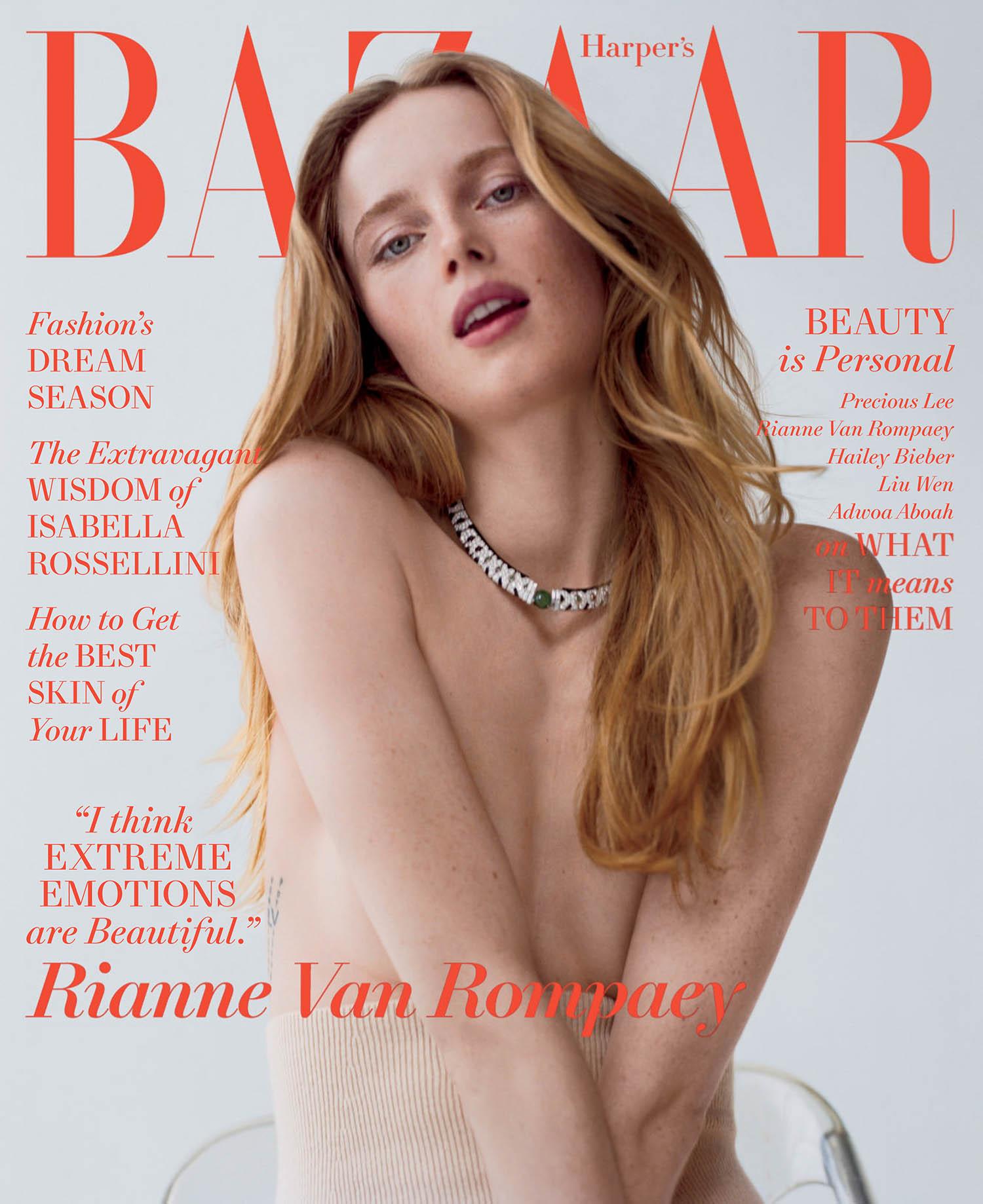 Rianne van Rompaey covers Harper's Bazaar US May 2021 by Cass Bird