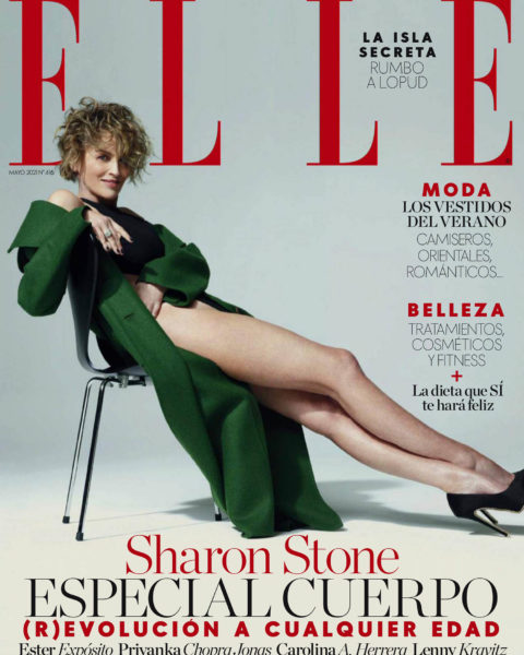 Sharon Stone covers Elle Spain May 2021 by Michael Muller