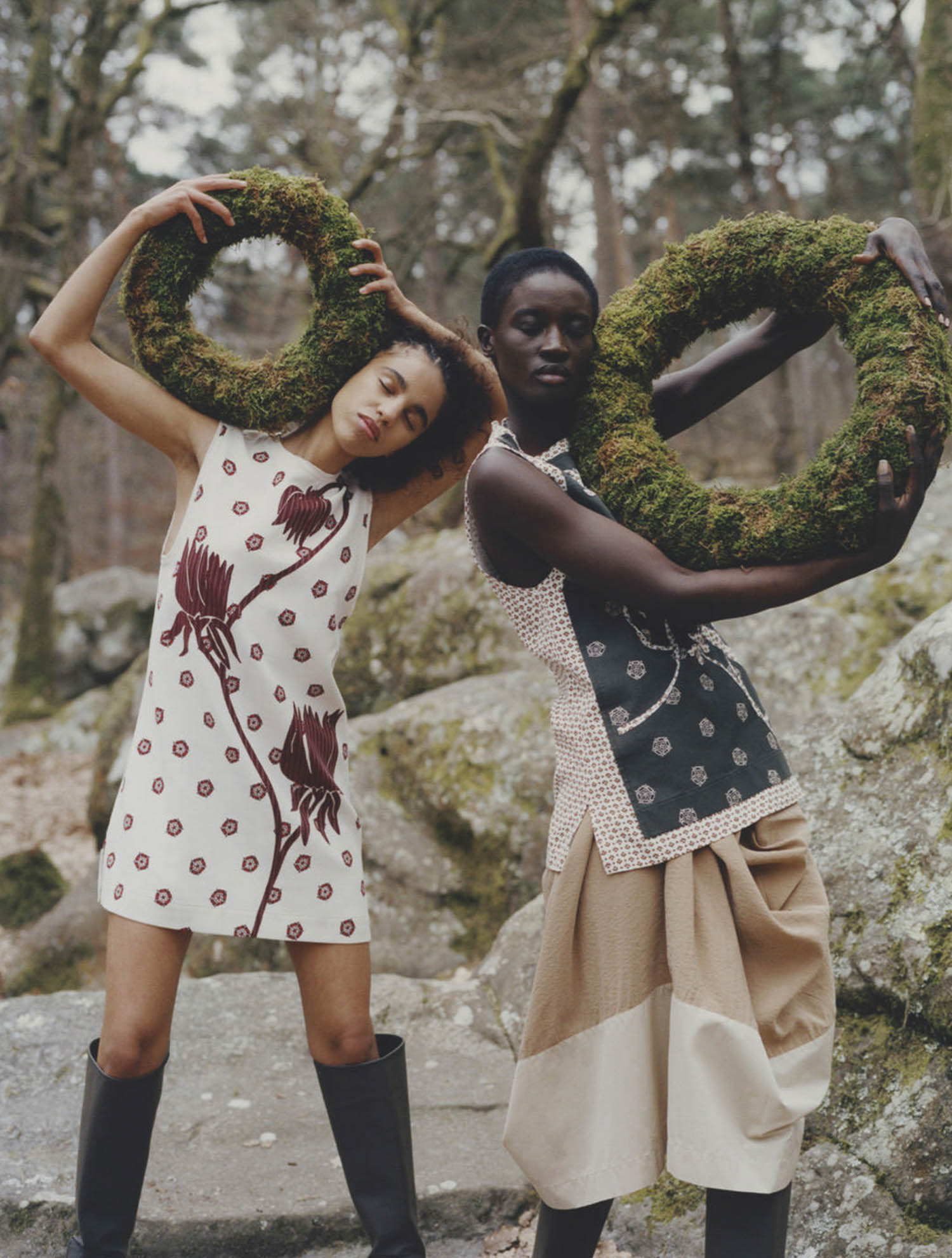 Sokhna Niane and Aouatif Saadi by Alex Huanfa Cheng for Vogue Russia May 2021