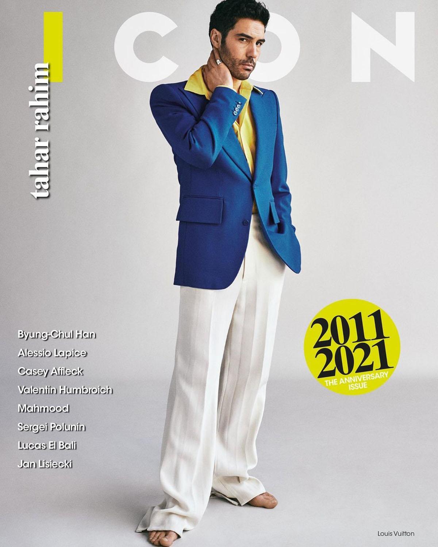 Tahar Rahim covers Icon Italia ''10th Anniversary Issue'' by Van Mossevelde + N