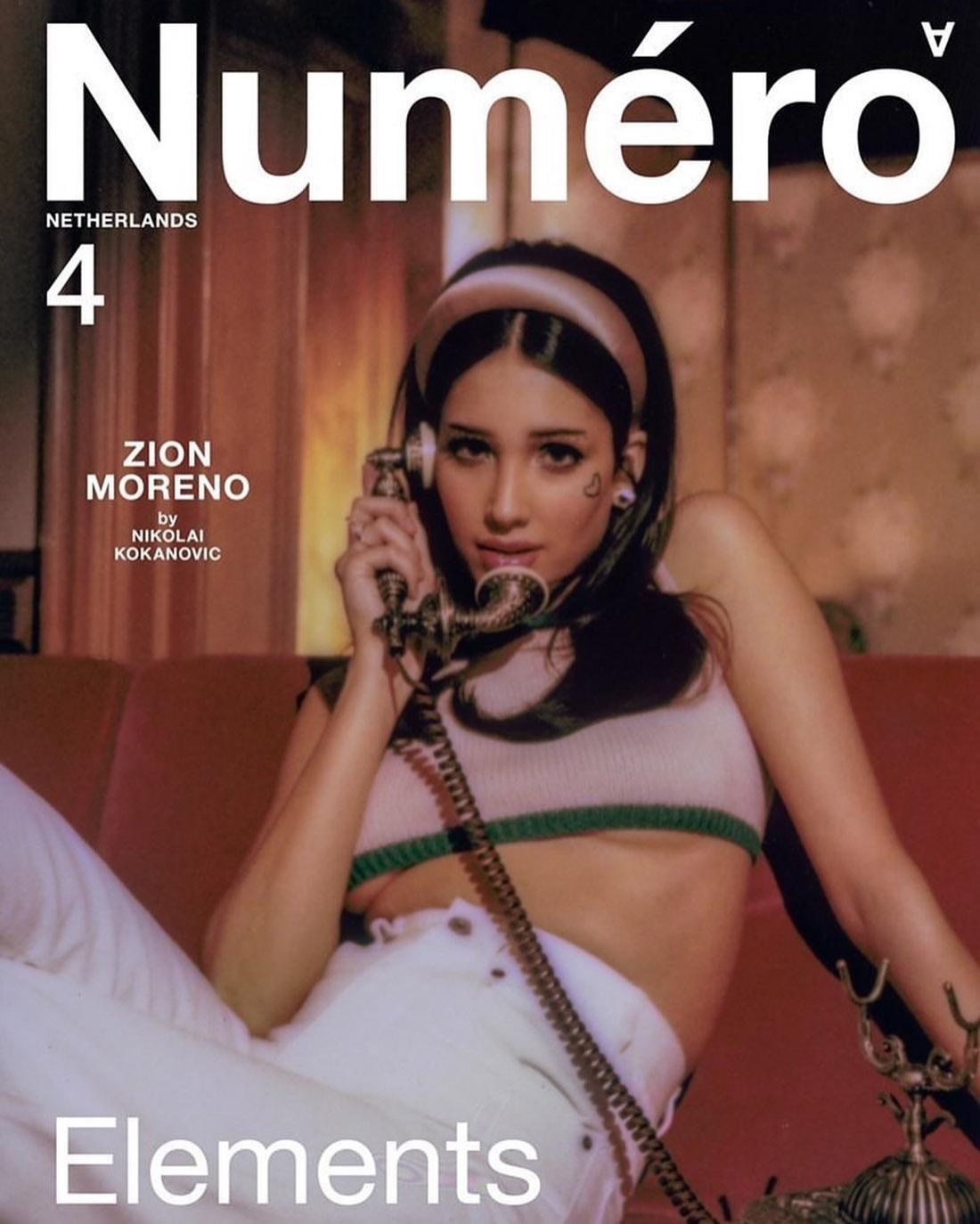 Zion Moreno covers Numéro Netherlands Spring Summer 2021 by Nikolai Kokanovic