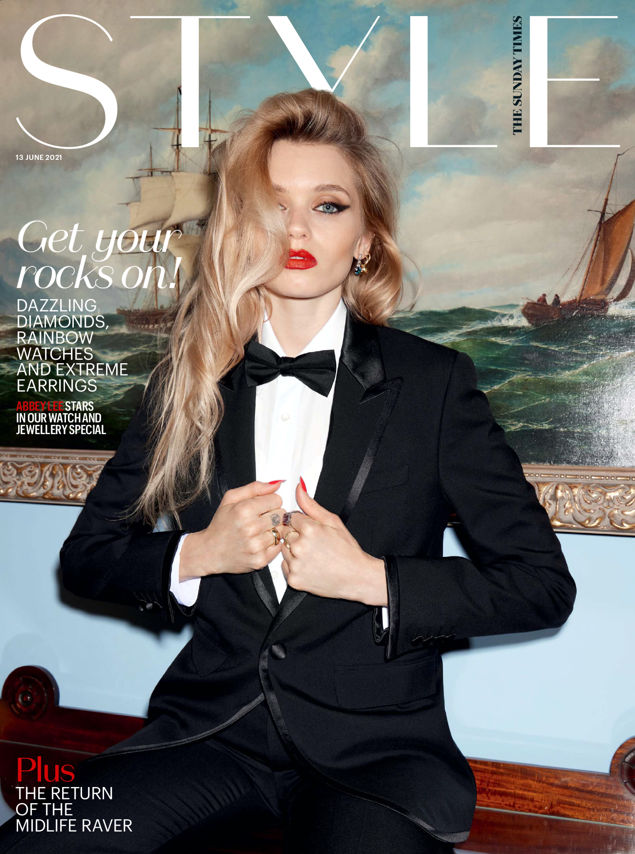 Abbey Lee Kershaw covers The Sunday Times Style June 13th, 2021 by Claire Rothstein
