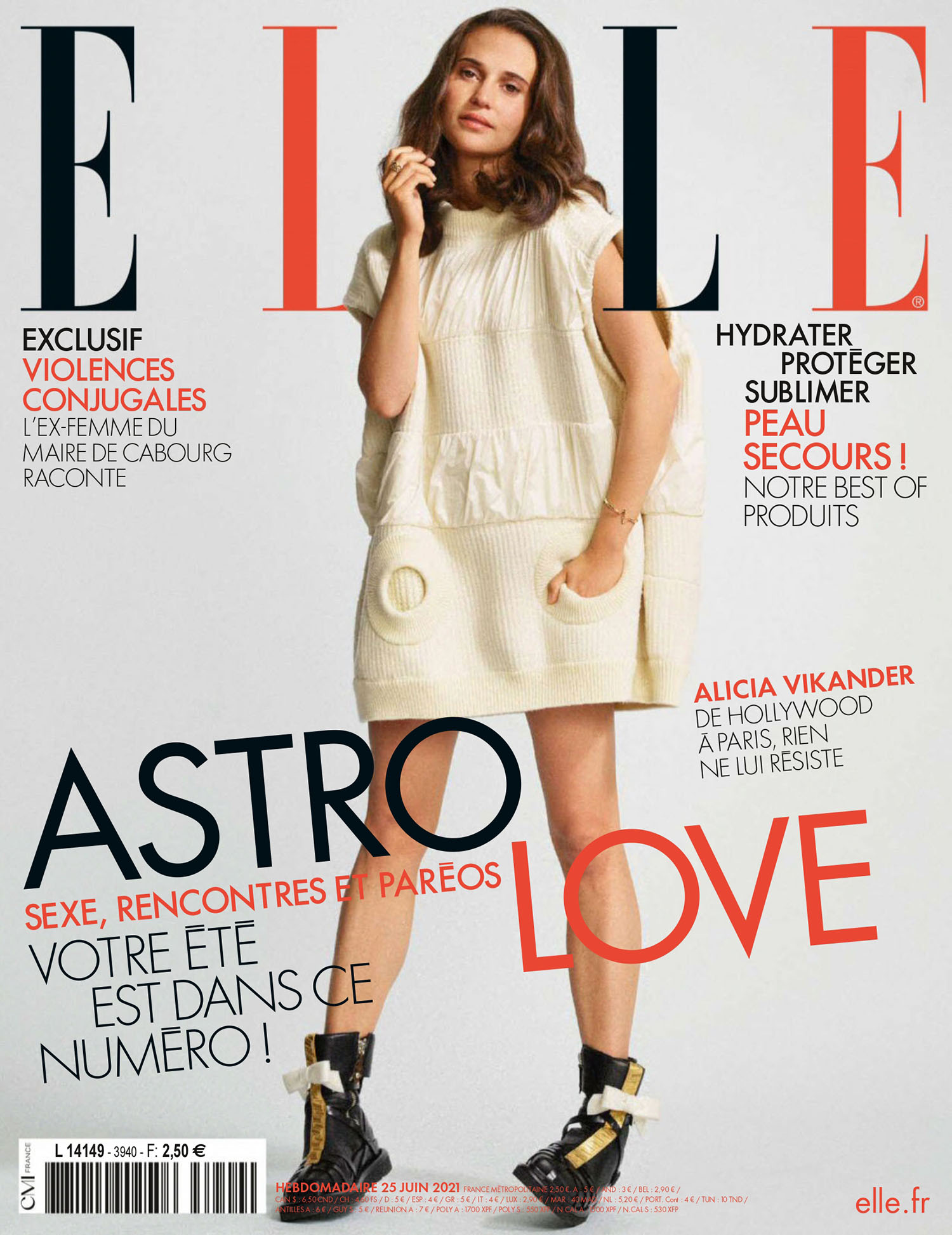 Alicia Vikander covers Elle France June 25th, 2021 by Nico Bustos