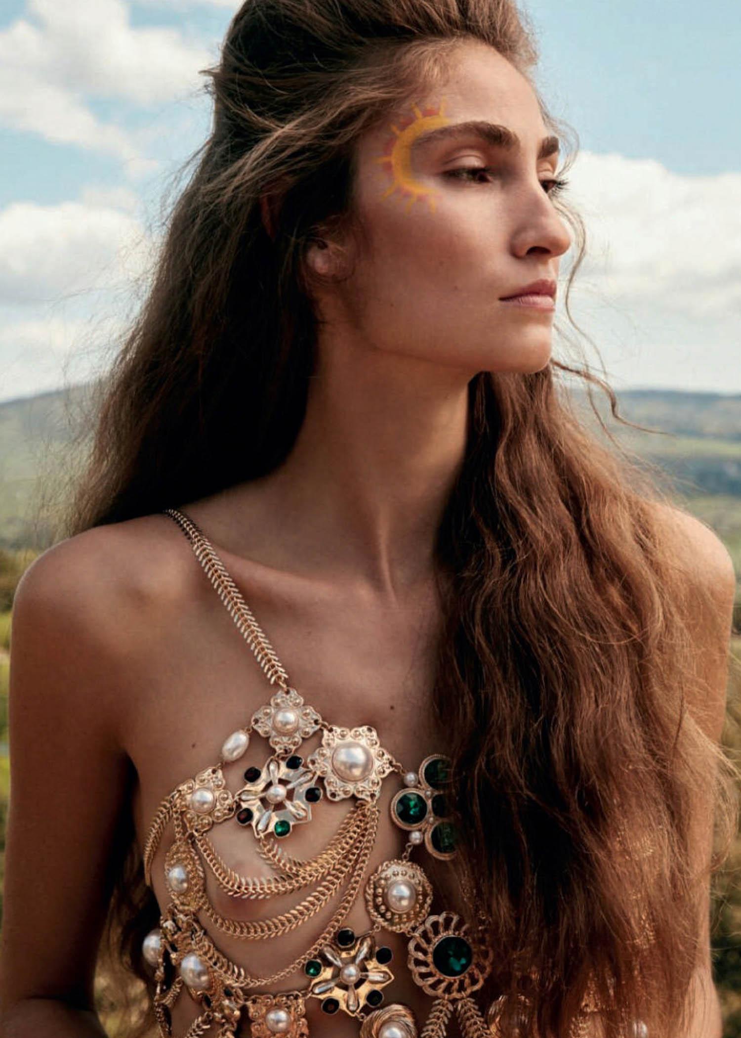 Almudena Cañedo by Santiago Belizon for Harper's Bazaar Spain June 2021