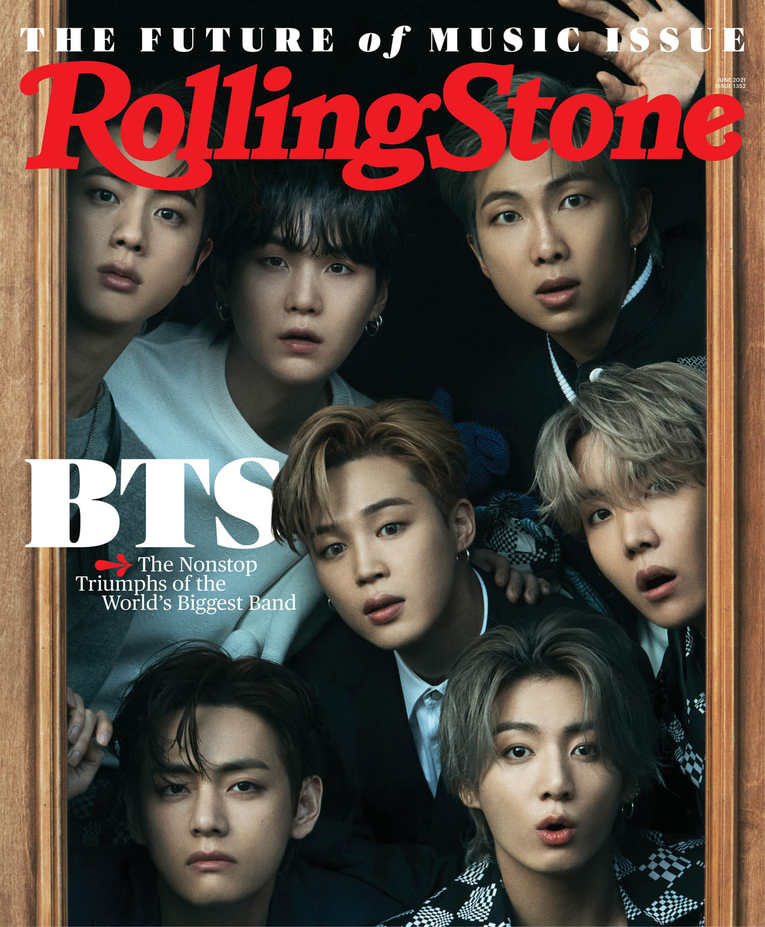 BTS covers Rolling Stone June 2021 by Hong Janghyun