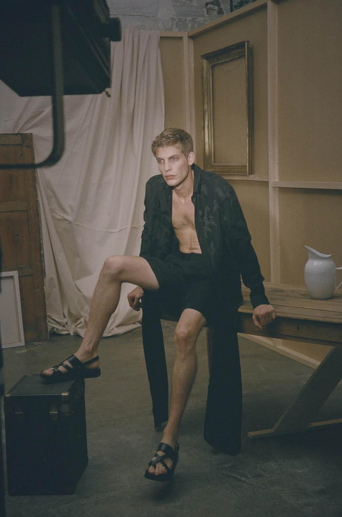 Baptiste Radufe by Guillaume Malheiro for L'Officiel Hommes Italia Issue 26