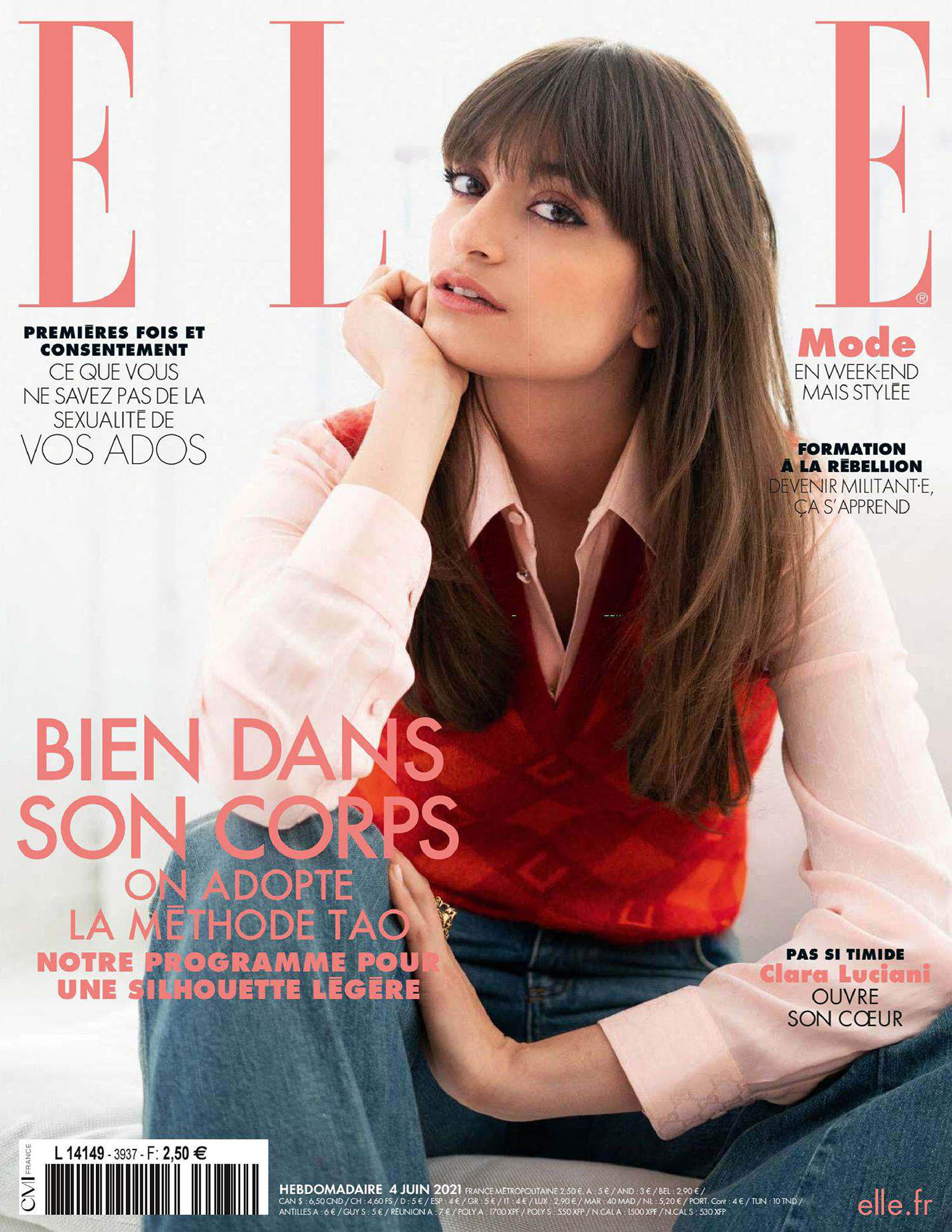 Clara Luciani covers Elle France June 4th, 2021 by François Rotger