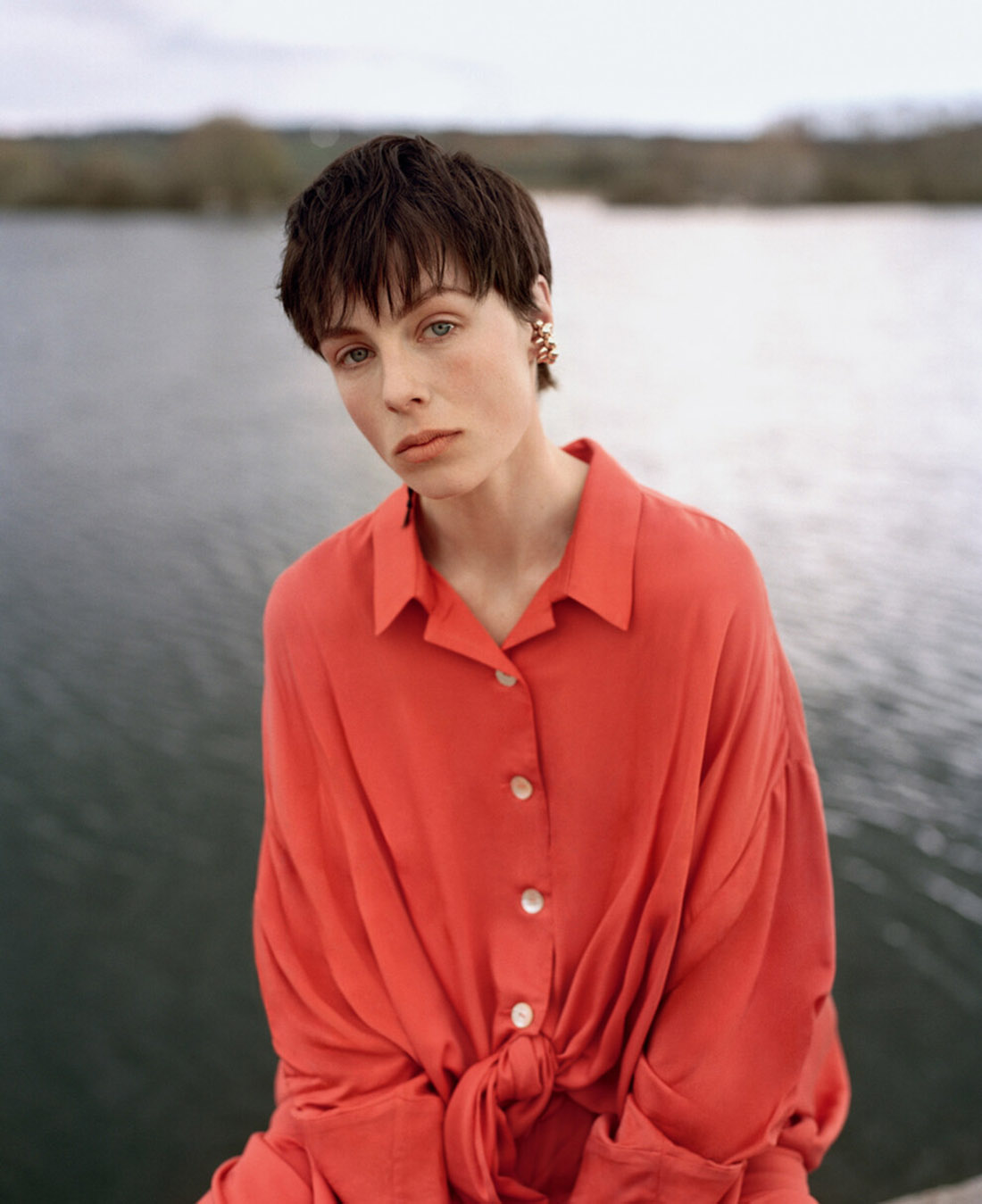 Edie Campbell covers Vogue Ukraine May June 2021 by Hill & Aubrey