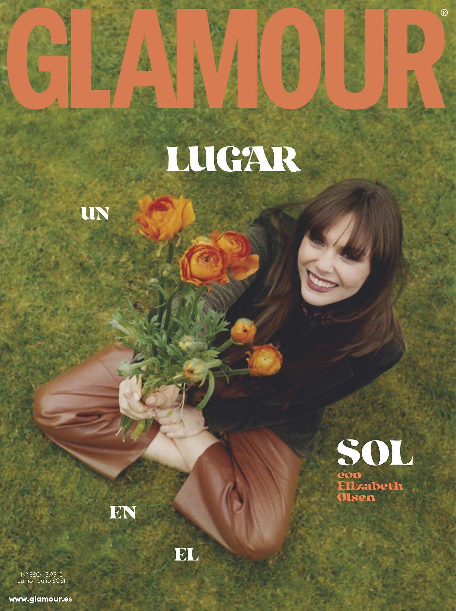 Elizabeth Olsen covers Glamour Spain June July 2021 by Maya Skelton