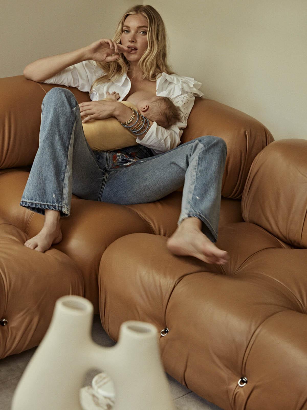 Elsa Hosk covers Vogue Russia Living June 2021 by Yulia Gorbachenko