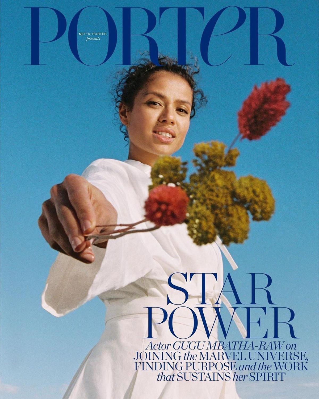 Gugu Mbatha-Raw covers Porter Magazine June 14th, 2021 by Danika Magdelena