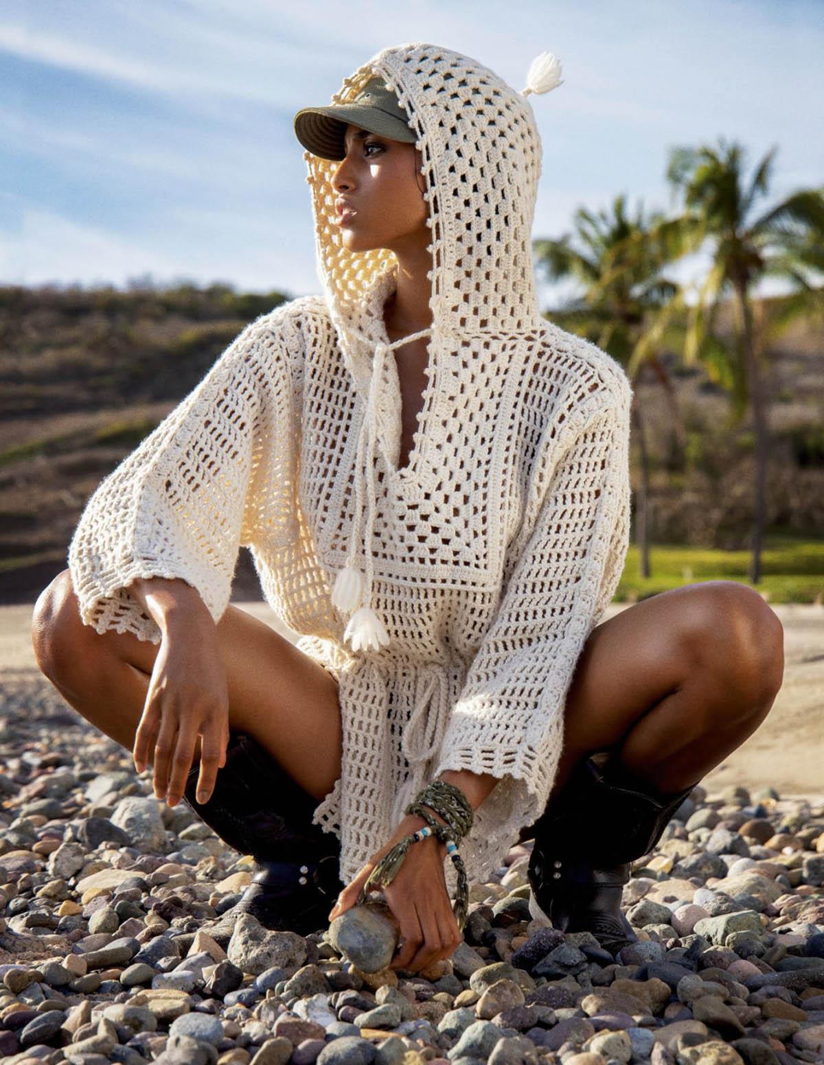 Imaan Hammam covers Vogue Paris June July 2021 by Inez and Vinoodh