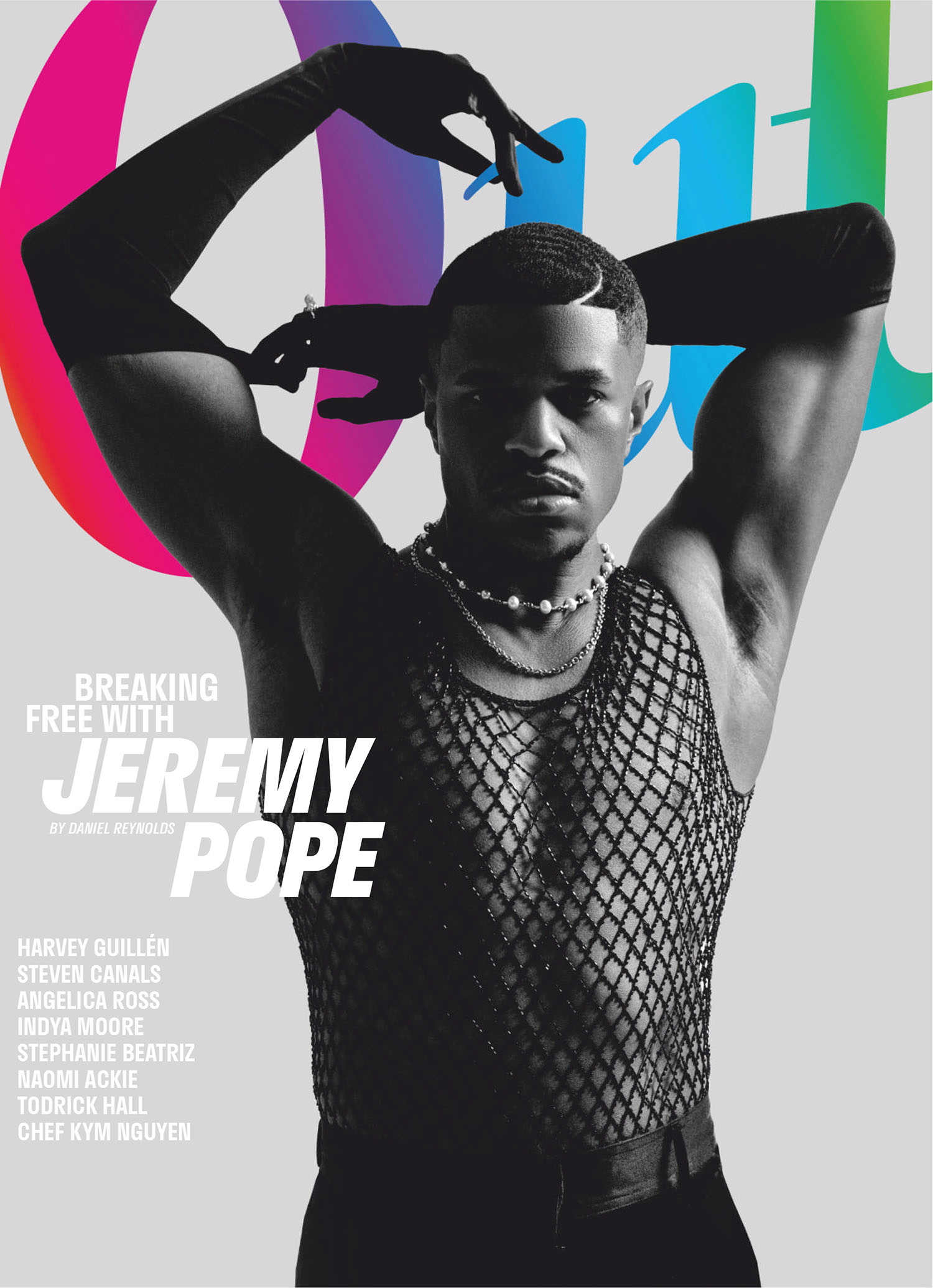 Jeremy Pope covers Out Magazine June 2021 by Sophie Chan Andreassend