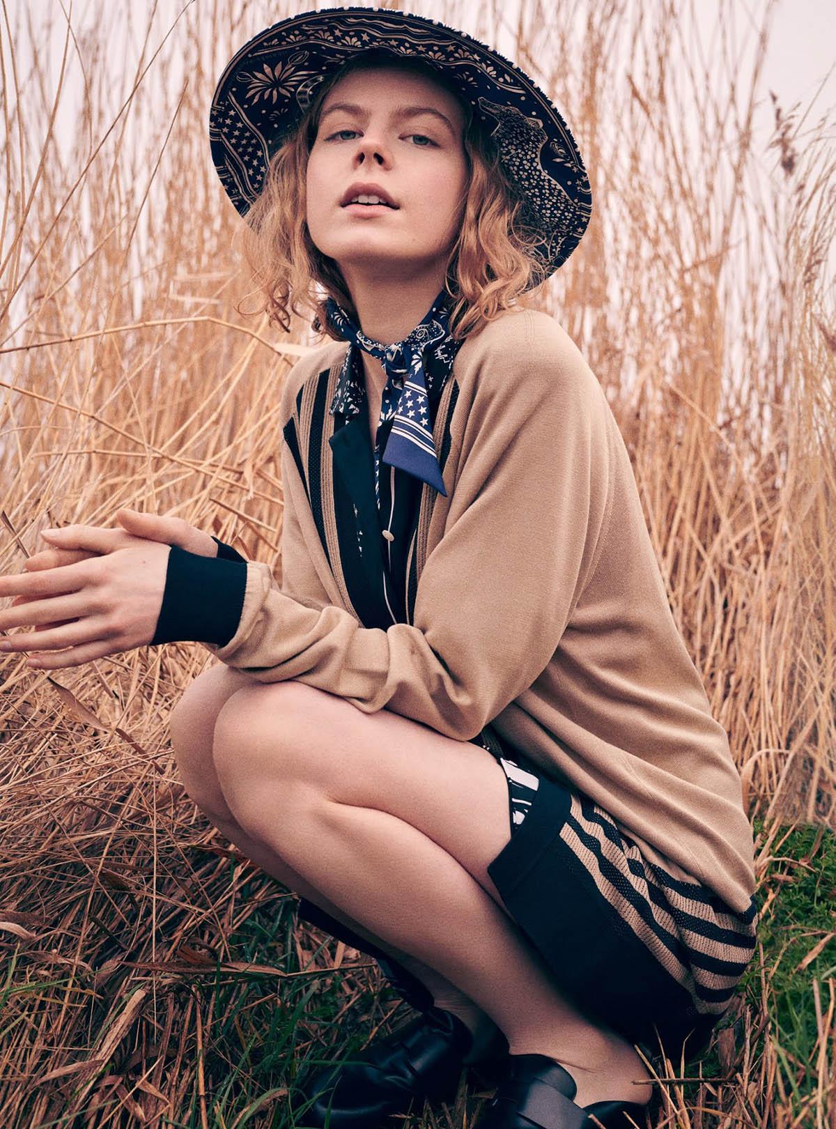 Jolie Alien by Jem Mitchell for Harper's Bazaar UK June 2021