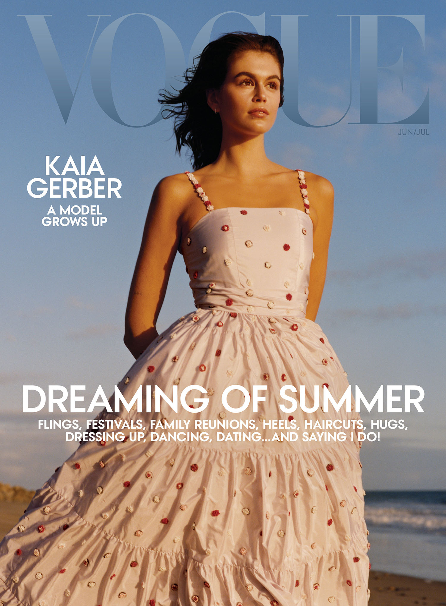 Kaia Gerber covers Vogue US June July 2021 by Colin Dodgson