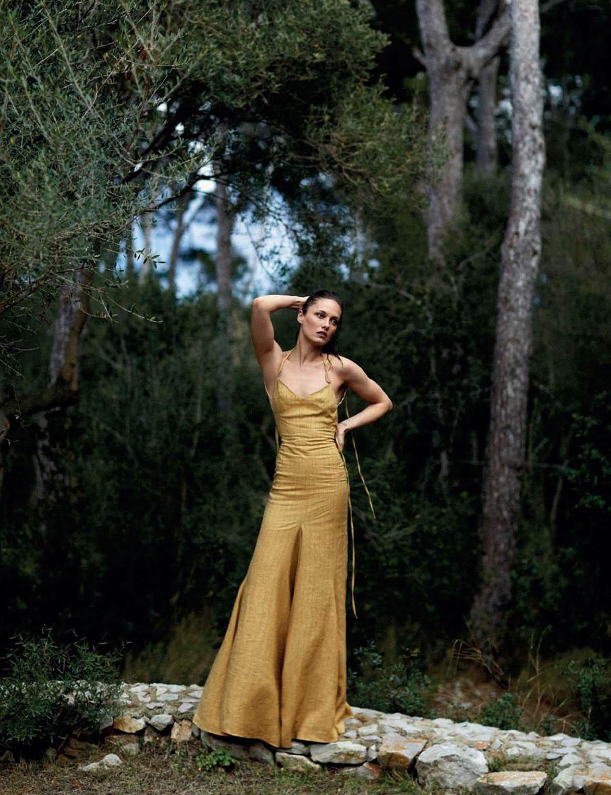 Karmen Pedaru covers Harper's Bazaar Spain June 2021 by Xavi Gordo