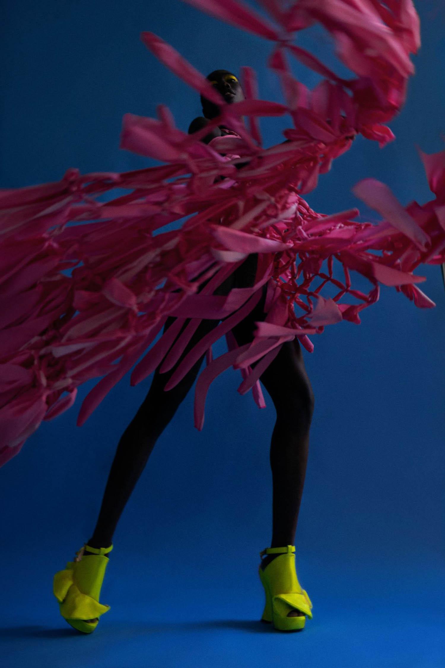 Lily Fofana by Álvaro Gracia for Vogue Portugal June 2021