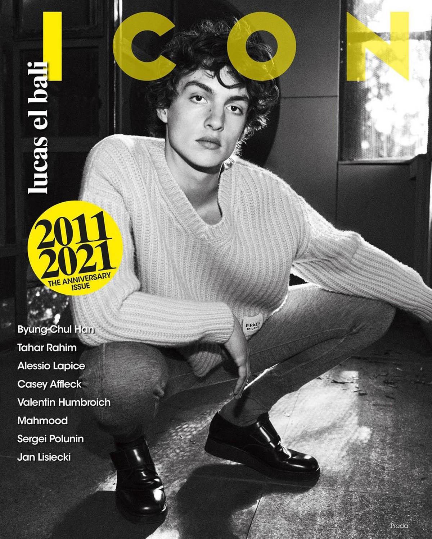Lucas El Bali covers Icon Italia ''10th Anniversary Issue'' by Van Mossevelde + N