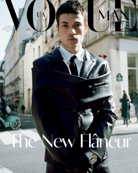 Luka Isaac covers Vogue Ukraine Man Spring Summer 2021 by Pierre-Ange Carlotti