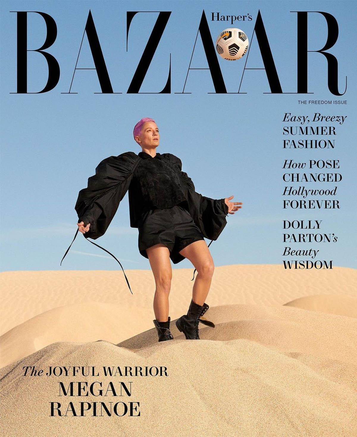 Megan Rapinoe covers Harper's Bazaar US June July 2021 by Ryan McGinley