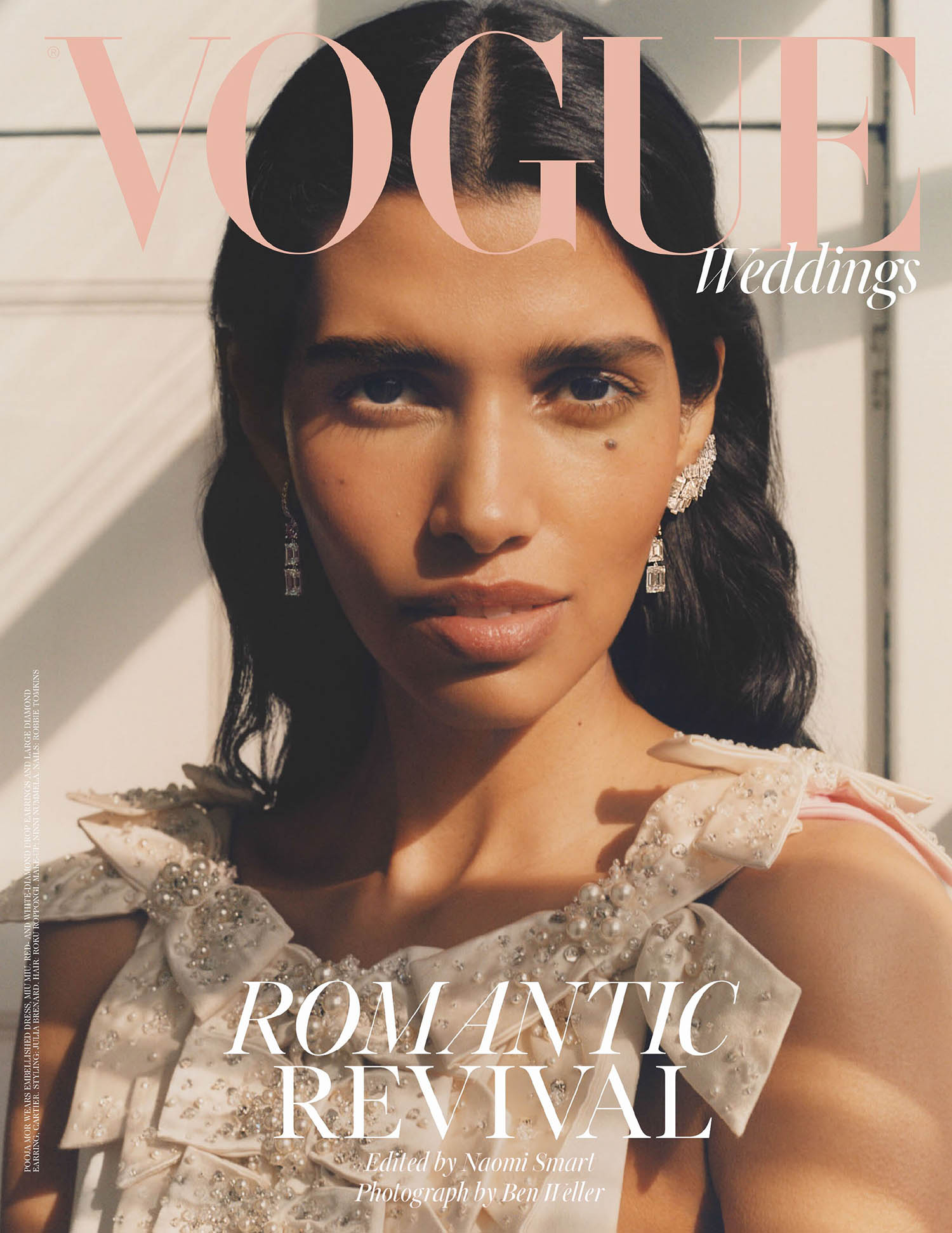 Pooja Mor covers British Vogue Weddings June 2021 by Ben Weller