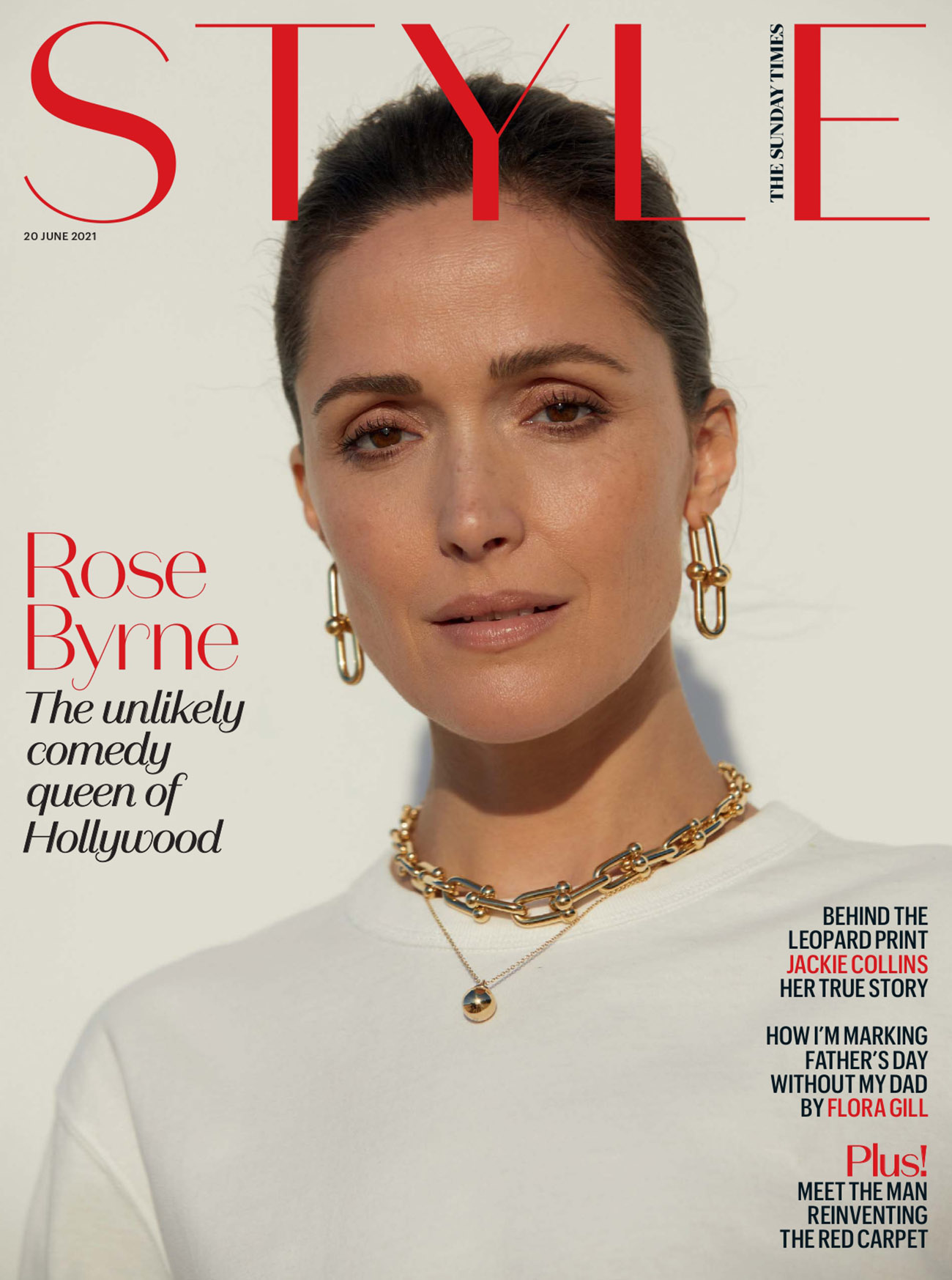 Rose Byrne covers The Sunday Times Style June 20th, 2021 by Bec Parsons